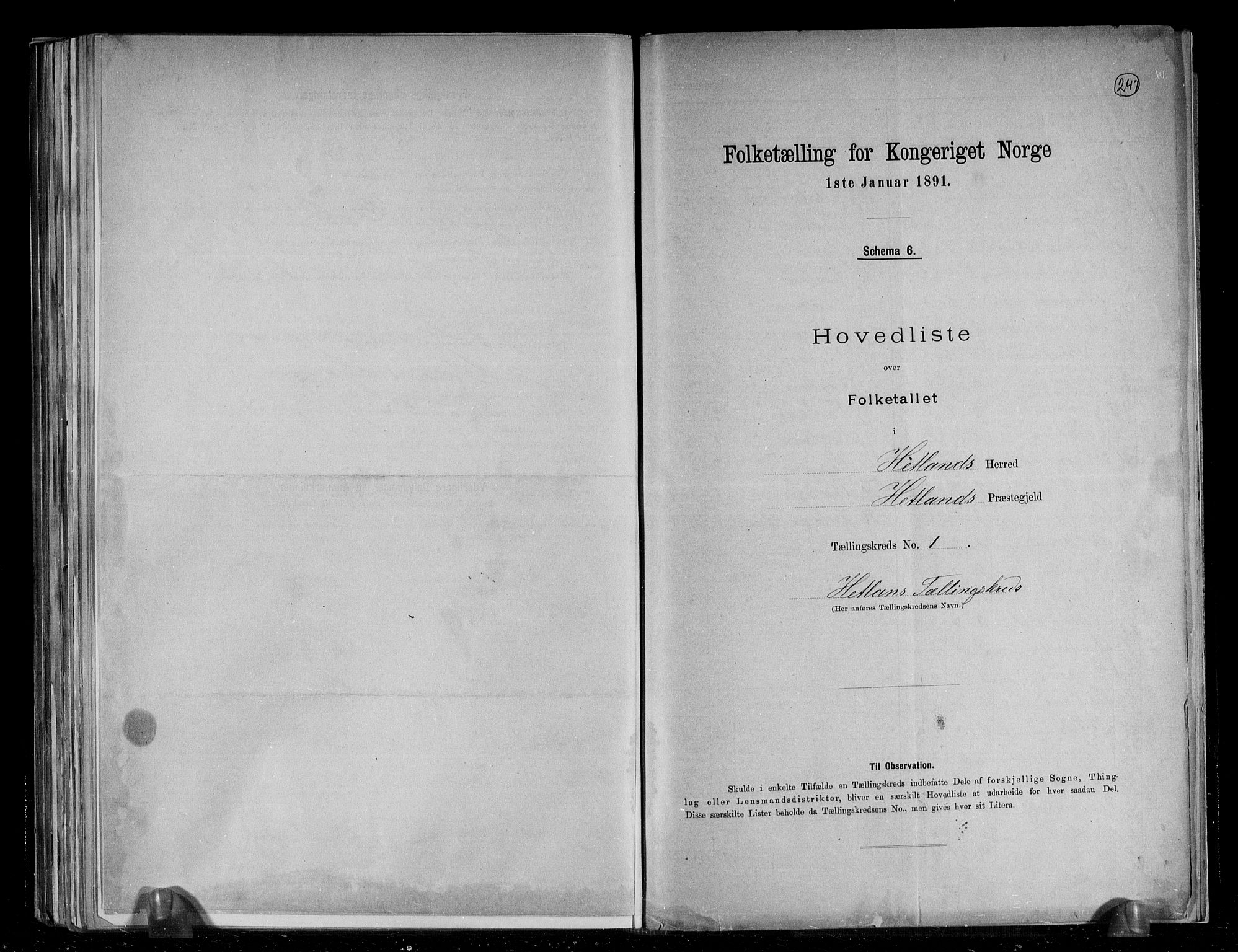 RA, Folketelling 1891 for 1126 Hetland herred, 1891, s. 4