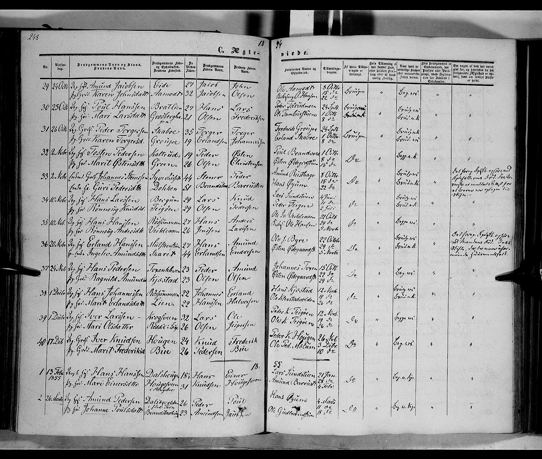 SAH, Nord-Fron prestekontor, Ministerialbok nr. 1, 1851-1864, s. 248