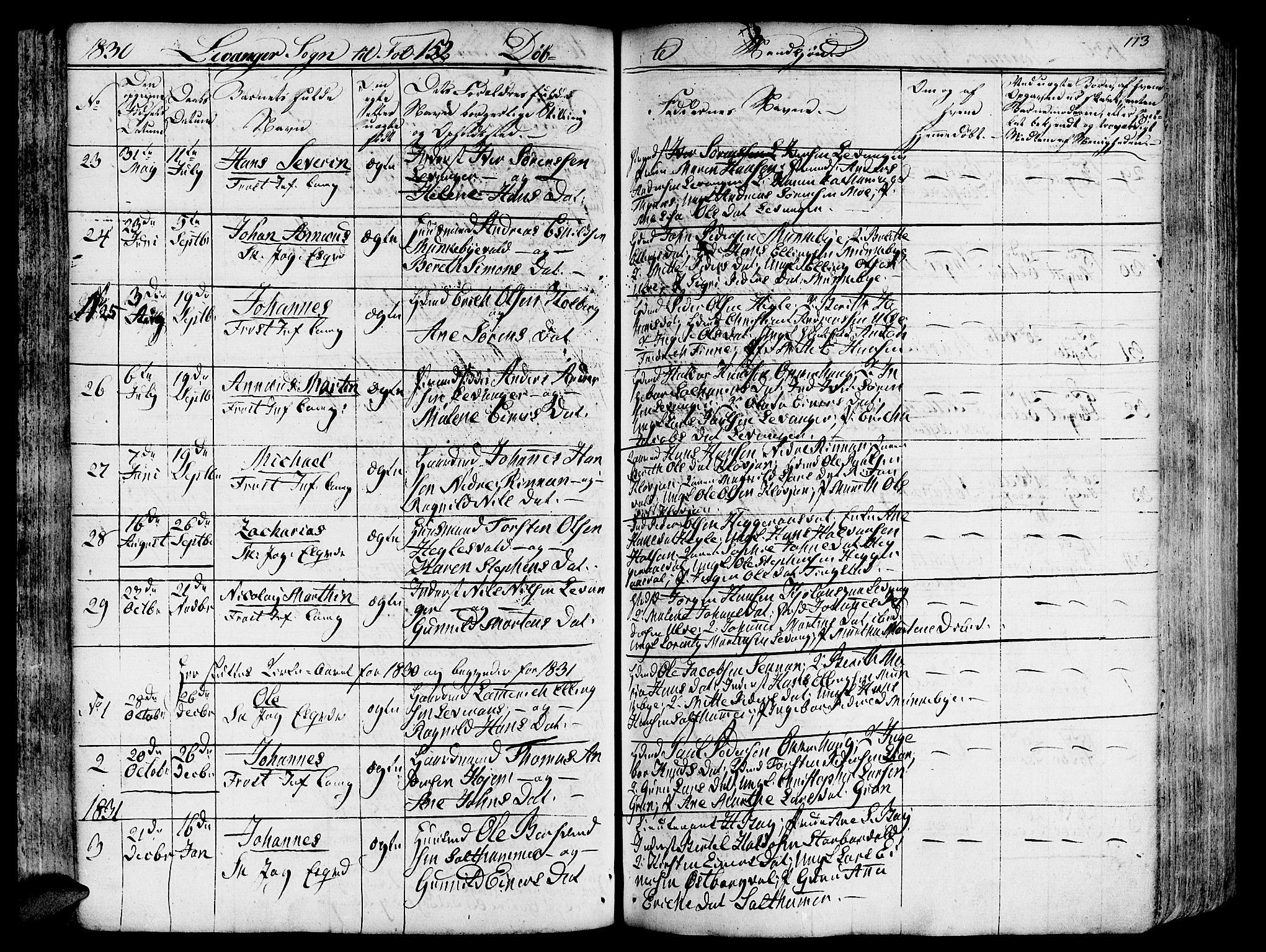 SAT, Ministerialprotokoller, klokkerbøker og fødselsregistre - Nord-Trøndelag, 717/L0152: Ministerialbok nr. 717A05 /3, 1828-1836, s. 113