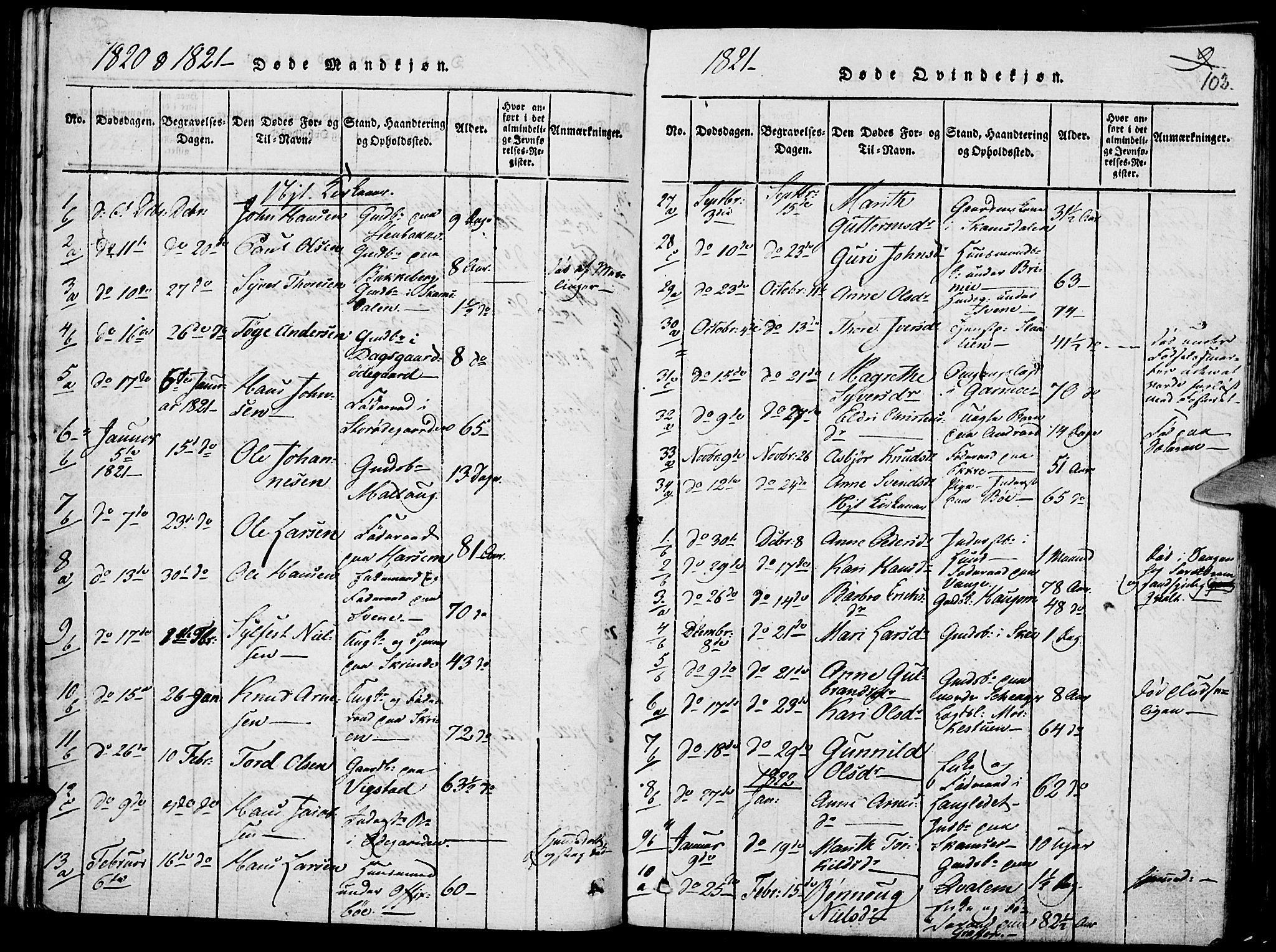 SAH, Lom prestekontor, K/L0004: Ministerialbok nr. 4, 1815-1825, s. 102