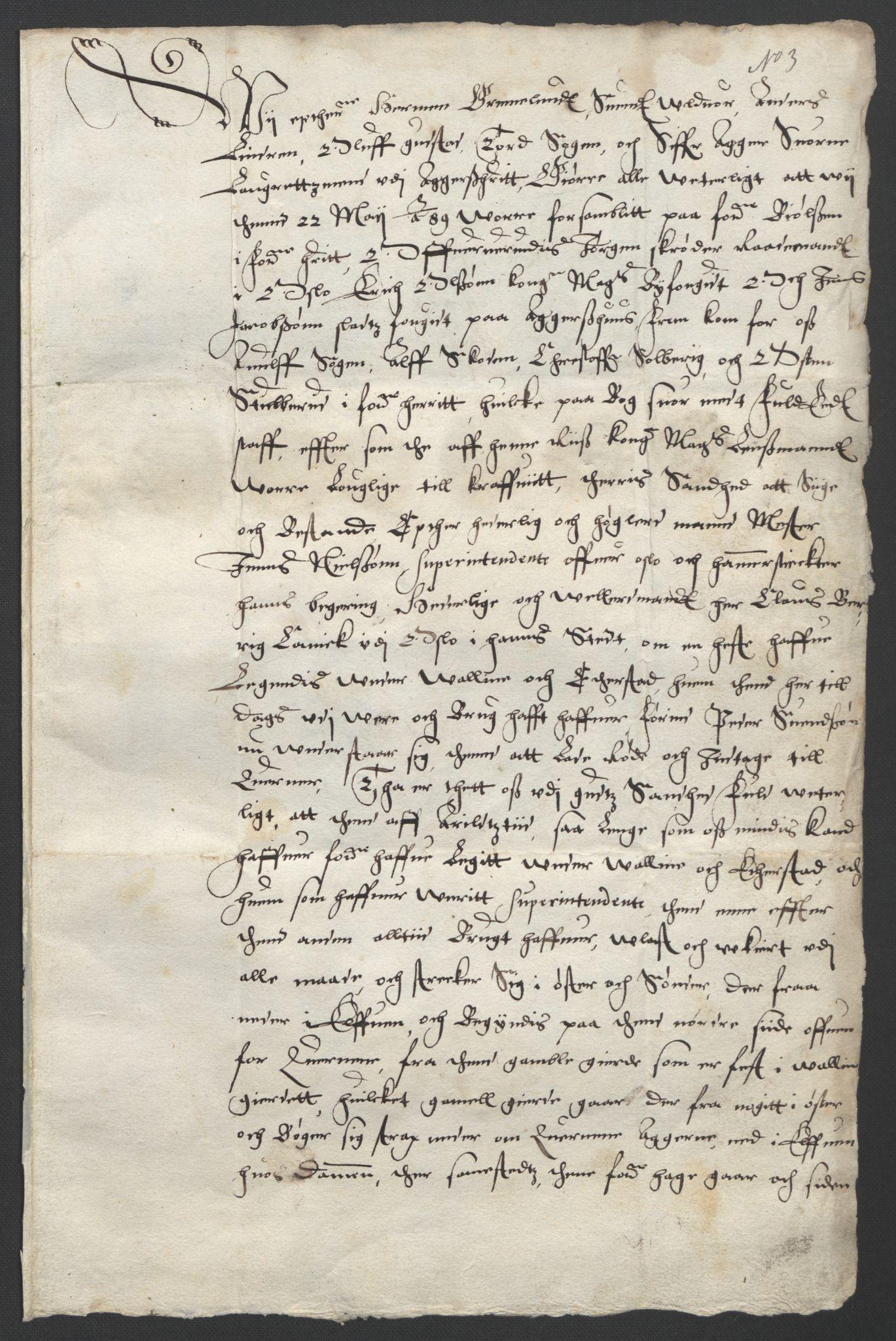 SAO, Oslo stiftsdireksjon, G/Gb/L0001: Bispestolens dokumenter, 1584-1612, s. 3