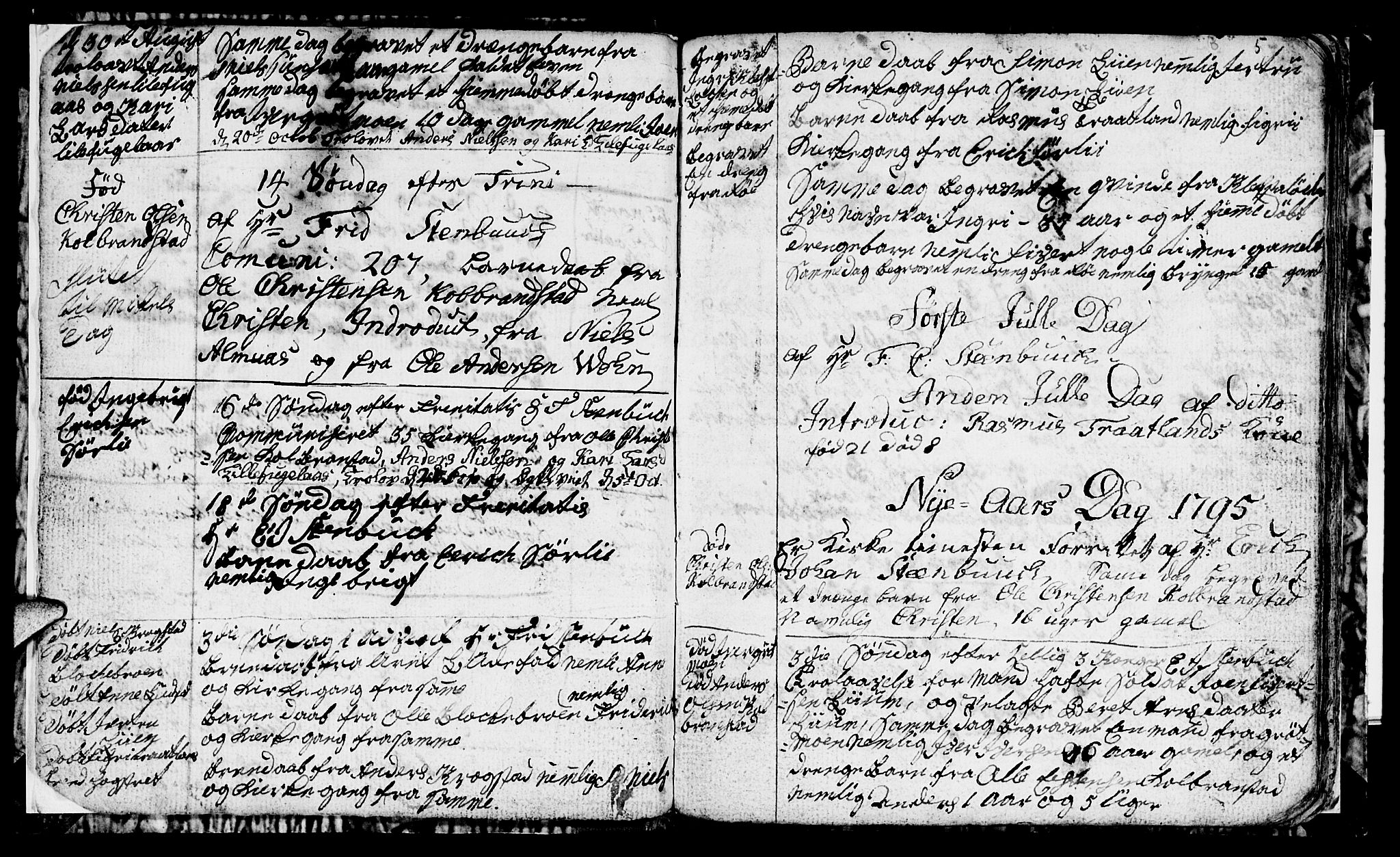 SAT, Ministerialprotokoller, klokkerbøker og fødselsregistre - Sør-Trøndelag, 694/L1129: Klokkerbok nr. 694C01, 1793-1815, s. 5
