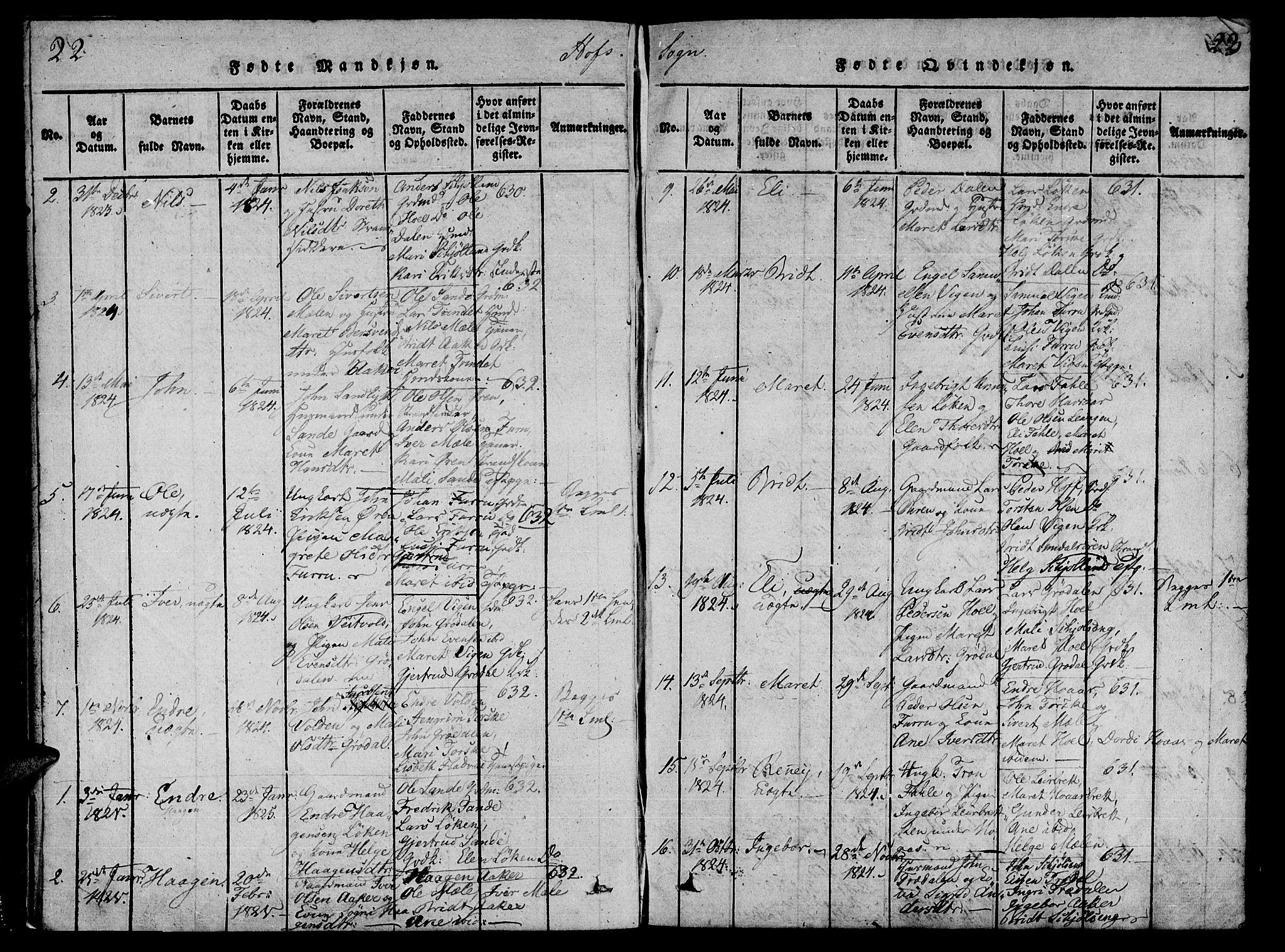 SAT, Ministerialprotokoller, klokkerbøker og fødselsregistre - Møre og Romsdal, 590/L1009: Ministerialbok nr. 590A03 /1, 1819-1832, s. 22-23