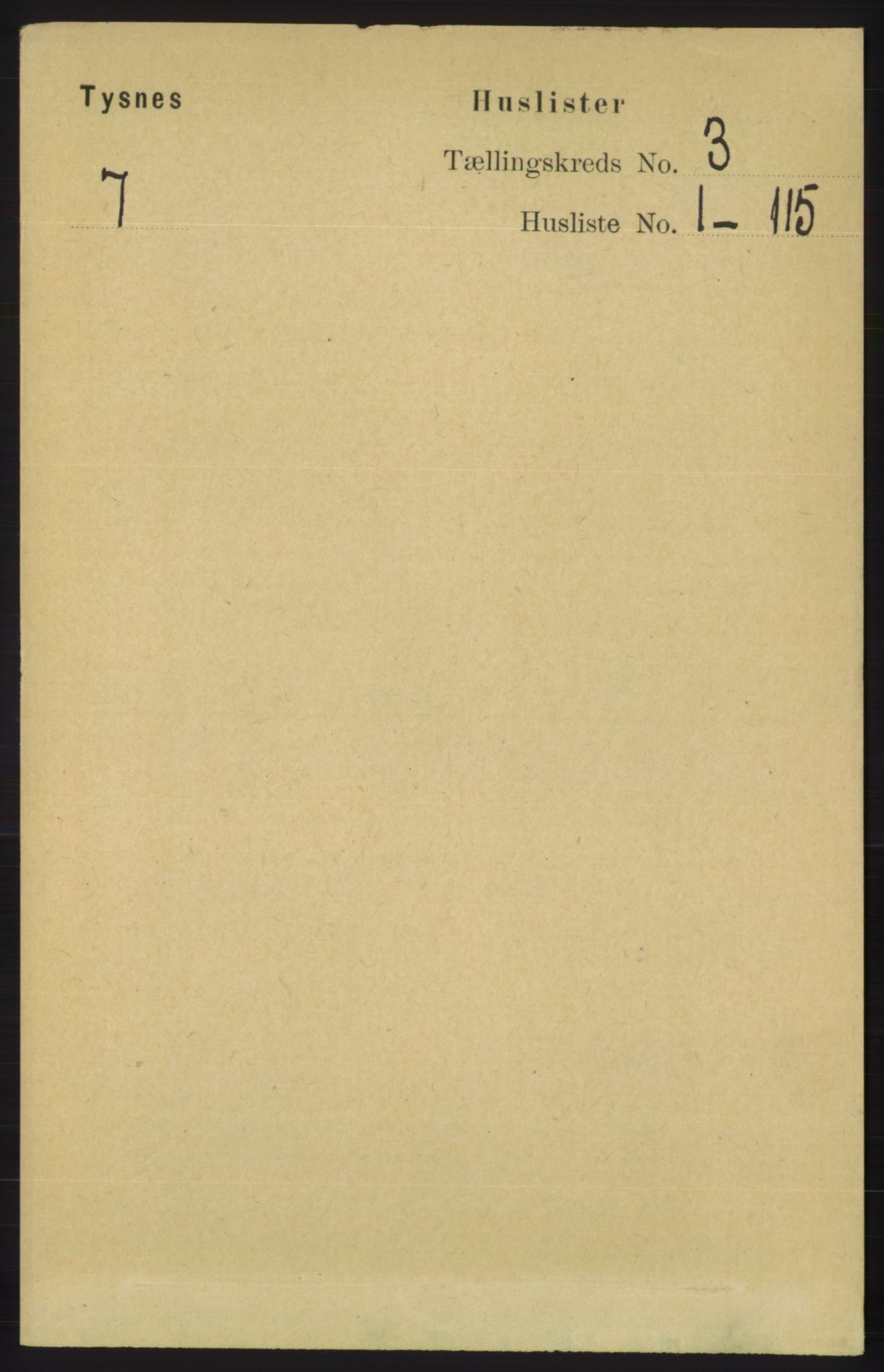 RA, Folketelling 1891 for 1223 Tysnes herred, 1891, s. 726