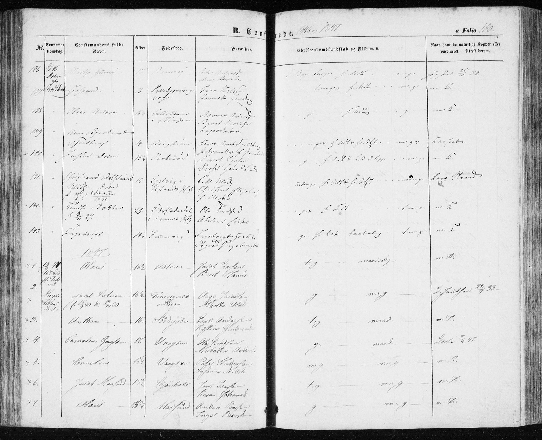 SAT, Ministerialprotokoller, klokkerbøker og fødselsregistre - Sør-Trøndelag, 634/L0529: Ministerialbok nr. 634A05, 1843-1851, s. 180