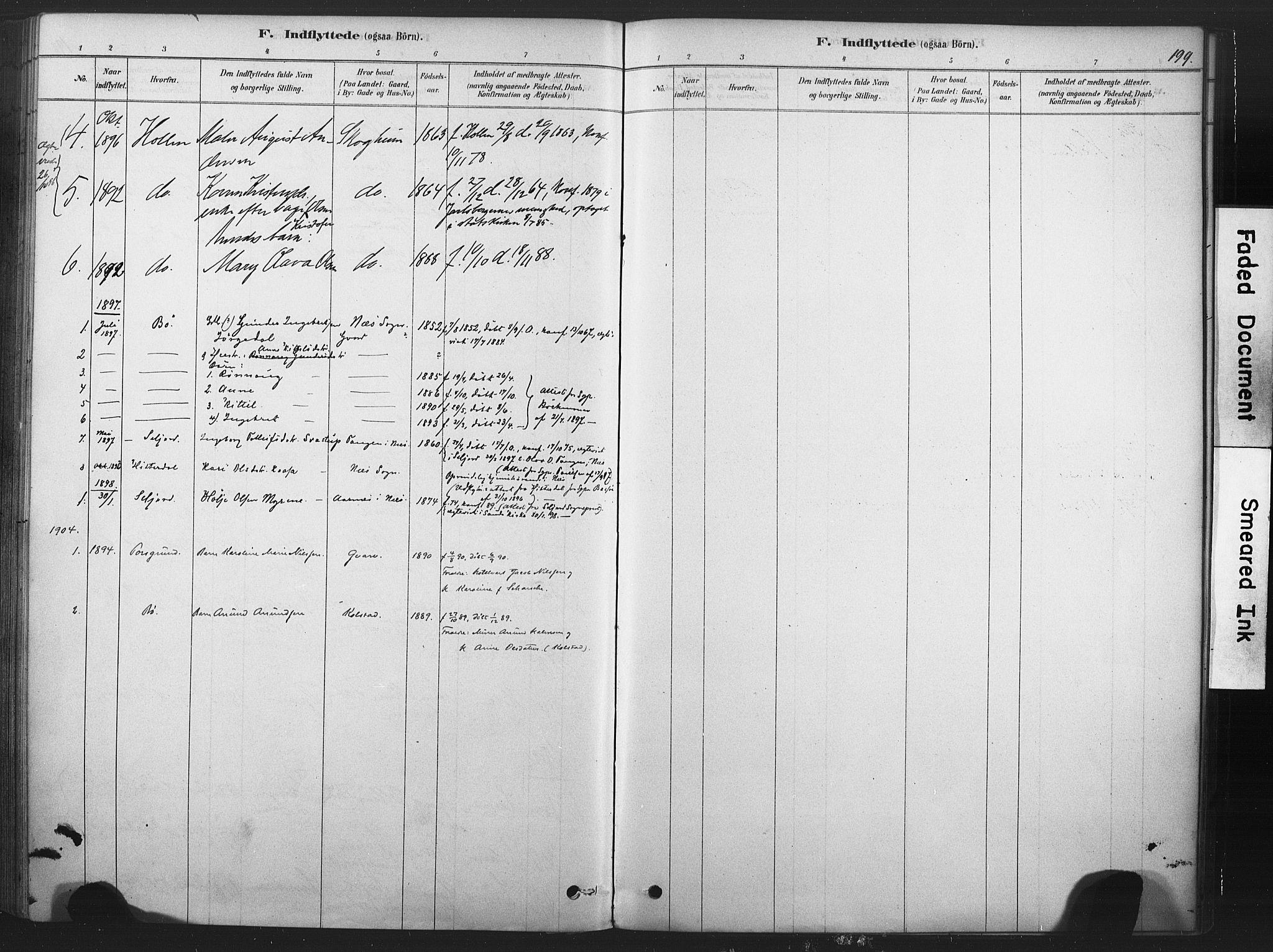 SAKO, Sauherad kirkebøker, F/Fb/L0002: Ministerialbok nr. II 2, 1878-1901, s. 199