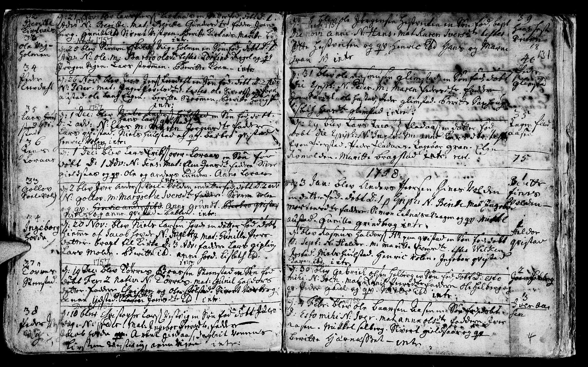 SAT, Ministerialprotokoller, klokkerbøker og fødselsregistre - Nord-Trøndelag, 730/L0272: Ministerialbok nr. 730A01, 1733-1764, s. 131