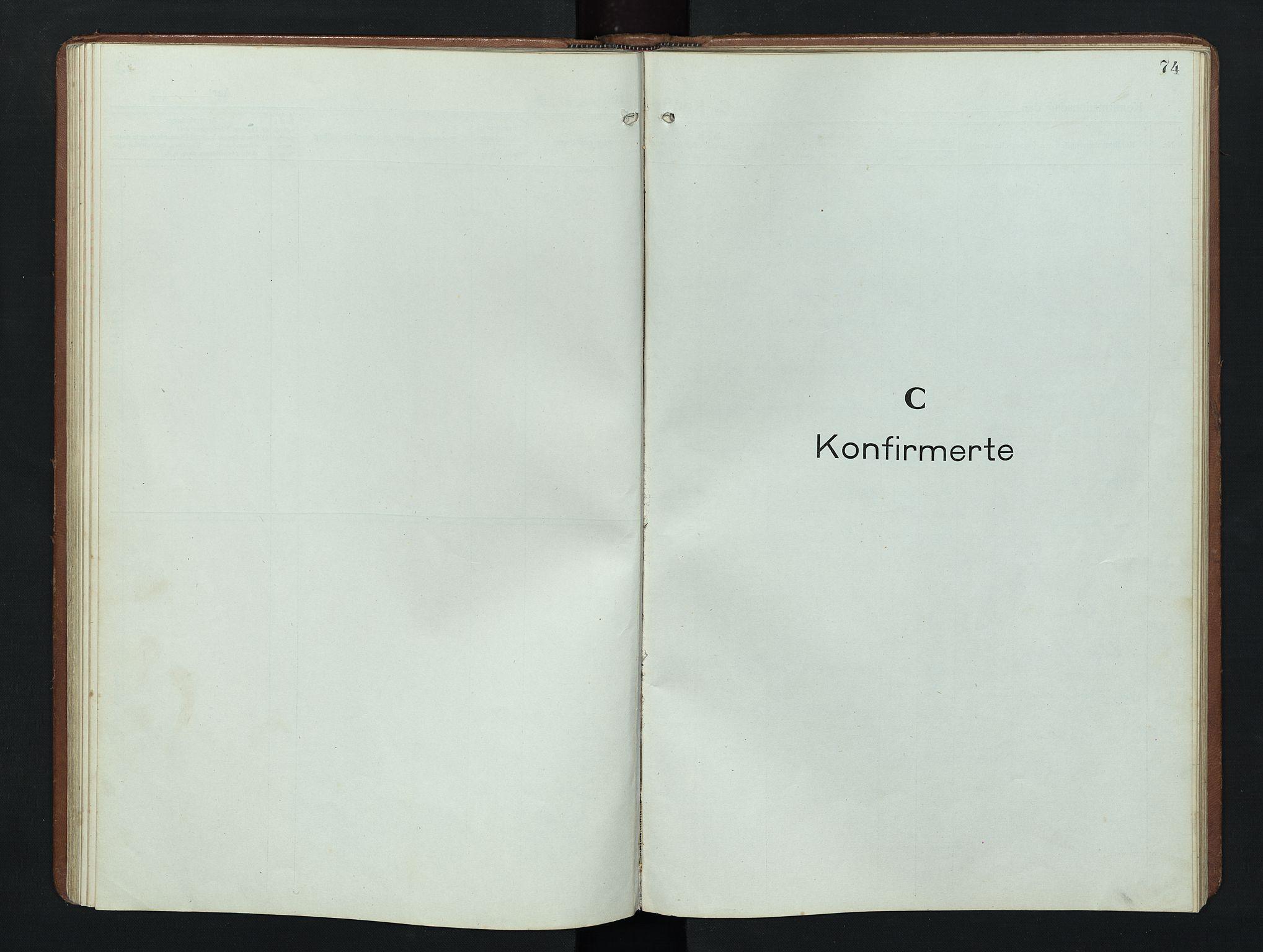 SAH, Nordre Land prestekontor, Klokkerbok nr. 9, 1921-1956, s. 74