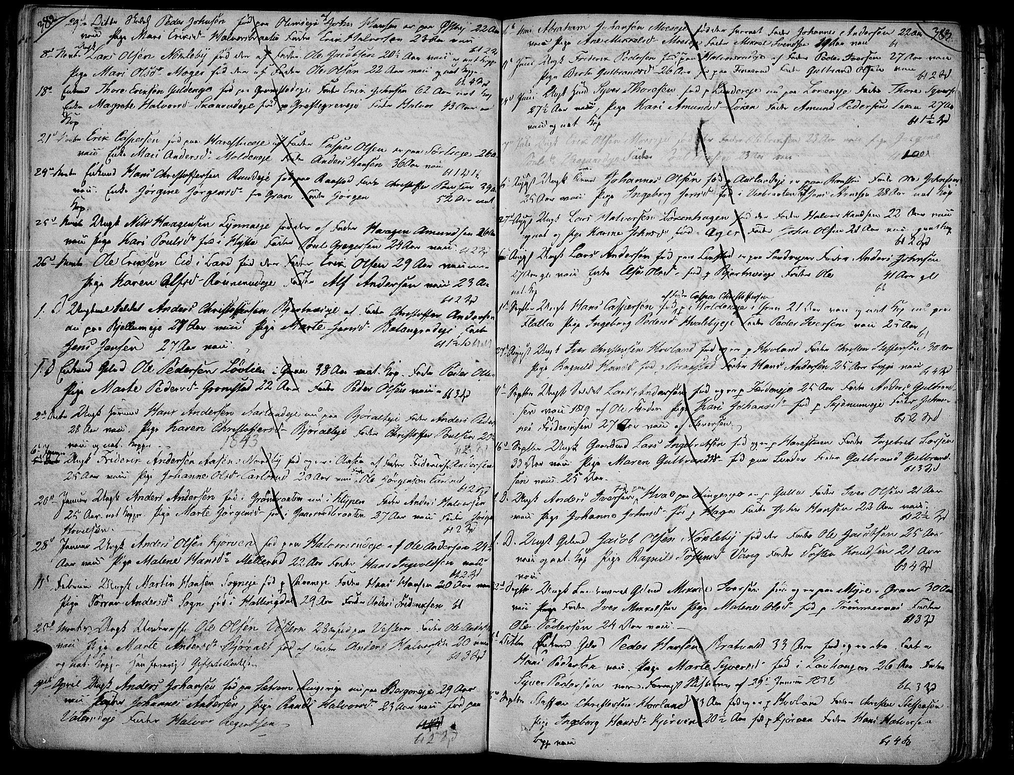 SAH, Jevnaker prestekontor, Ministerialbok nr. 4, 1800-1861, s. 382-383
