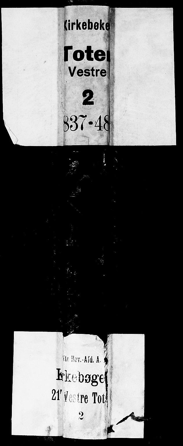 SAH, Vestre Toten prestekontor, H/Ha/Hab/L0002: Klokkerbok nr. 2, 1836-1848
