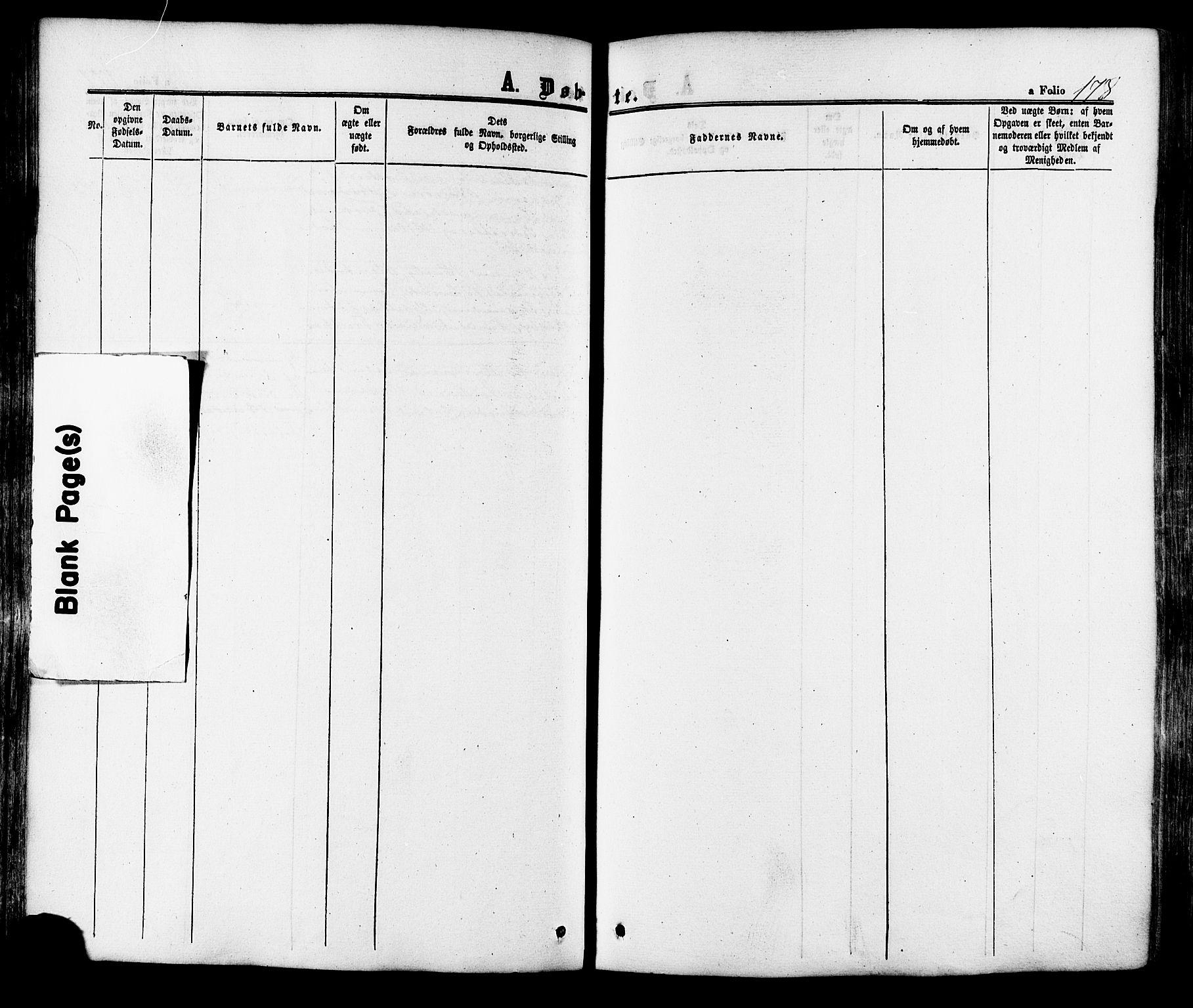 SAT, Ministerialprotokoller, klokkerbøker og fødselsregistre - Sør-Trøndelag, 665/L0772: Ministerialbok nr. 665A07, 1856-1878, s. 178