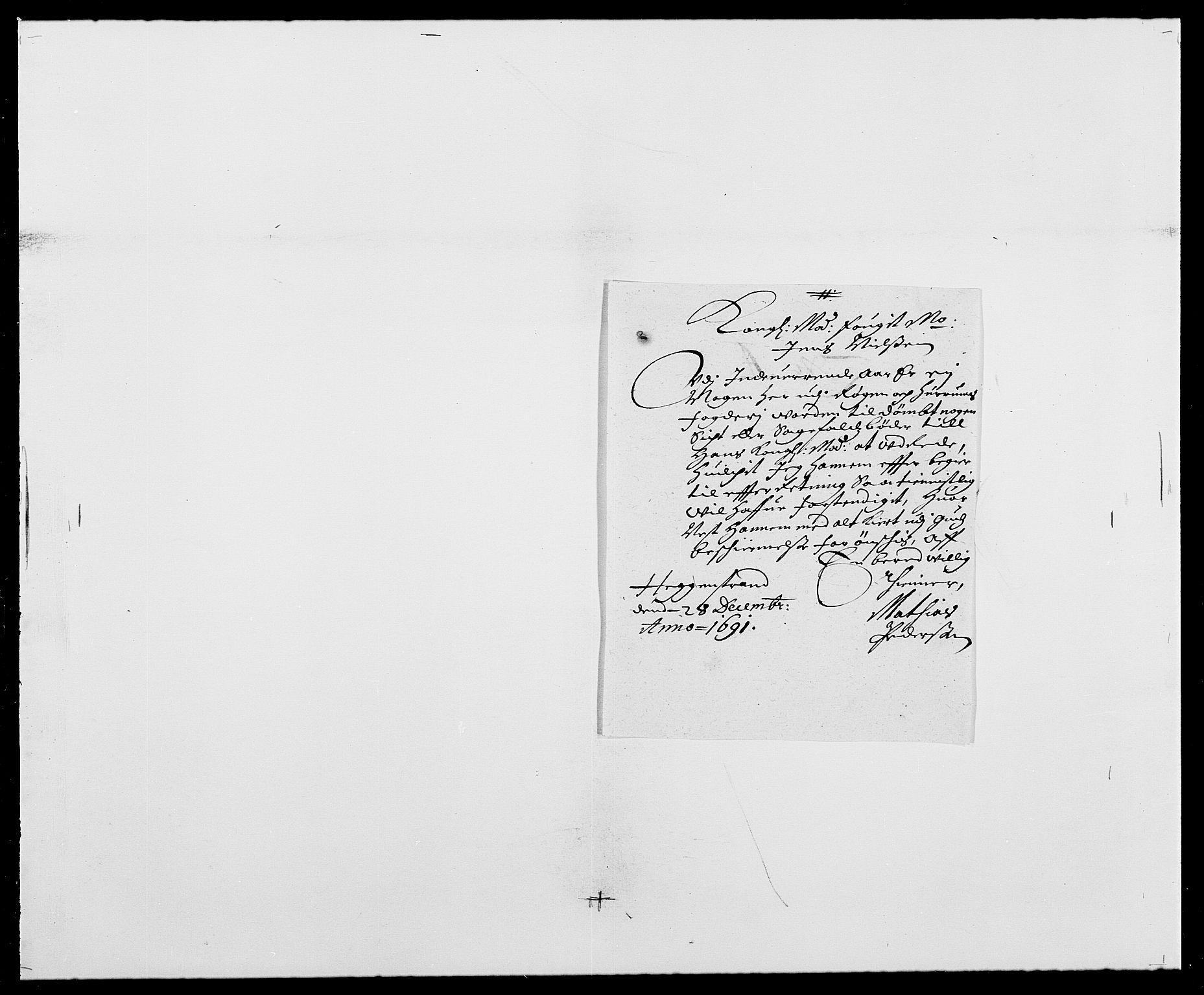 RA, Rentekammeret inntil 1814, Reviderte regnskaper, Fogderegnskap, R29/L1693: Fogderegnskap Hurum og Røyken, 1688-1693, s. 195