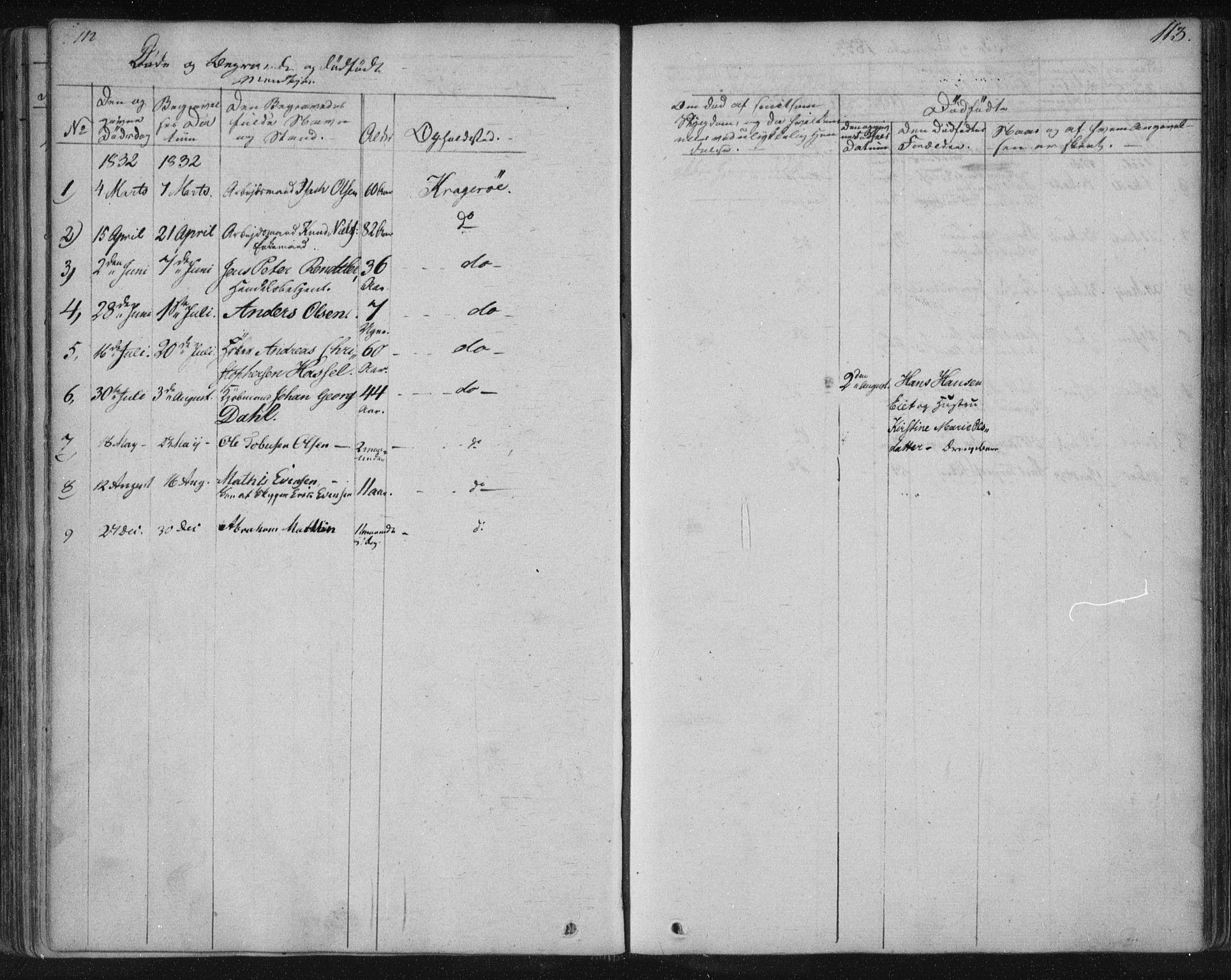 SAKO, Kragerø kirkebøker, F/Fa/L0005: Ministerialbok nr. 5, 1832-1847, s. 113