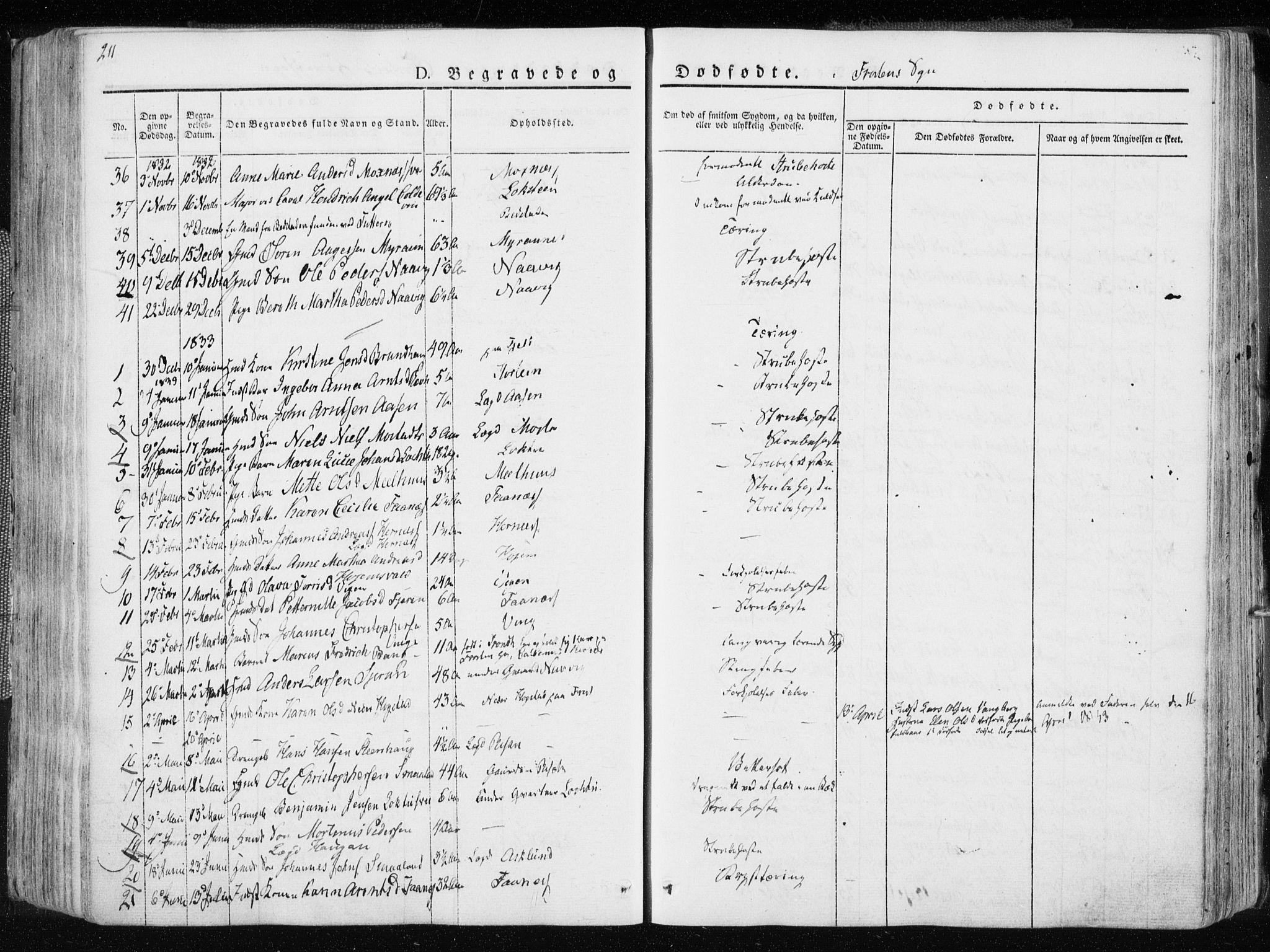 SAT, Ministerialprotokoller, klokkerbøker og fødselsregistre - Nord-Trøndelag, 713/L0114: Ministerialbok nr. 713A05, 1827-1839, s. 211