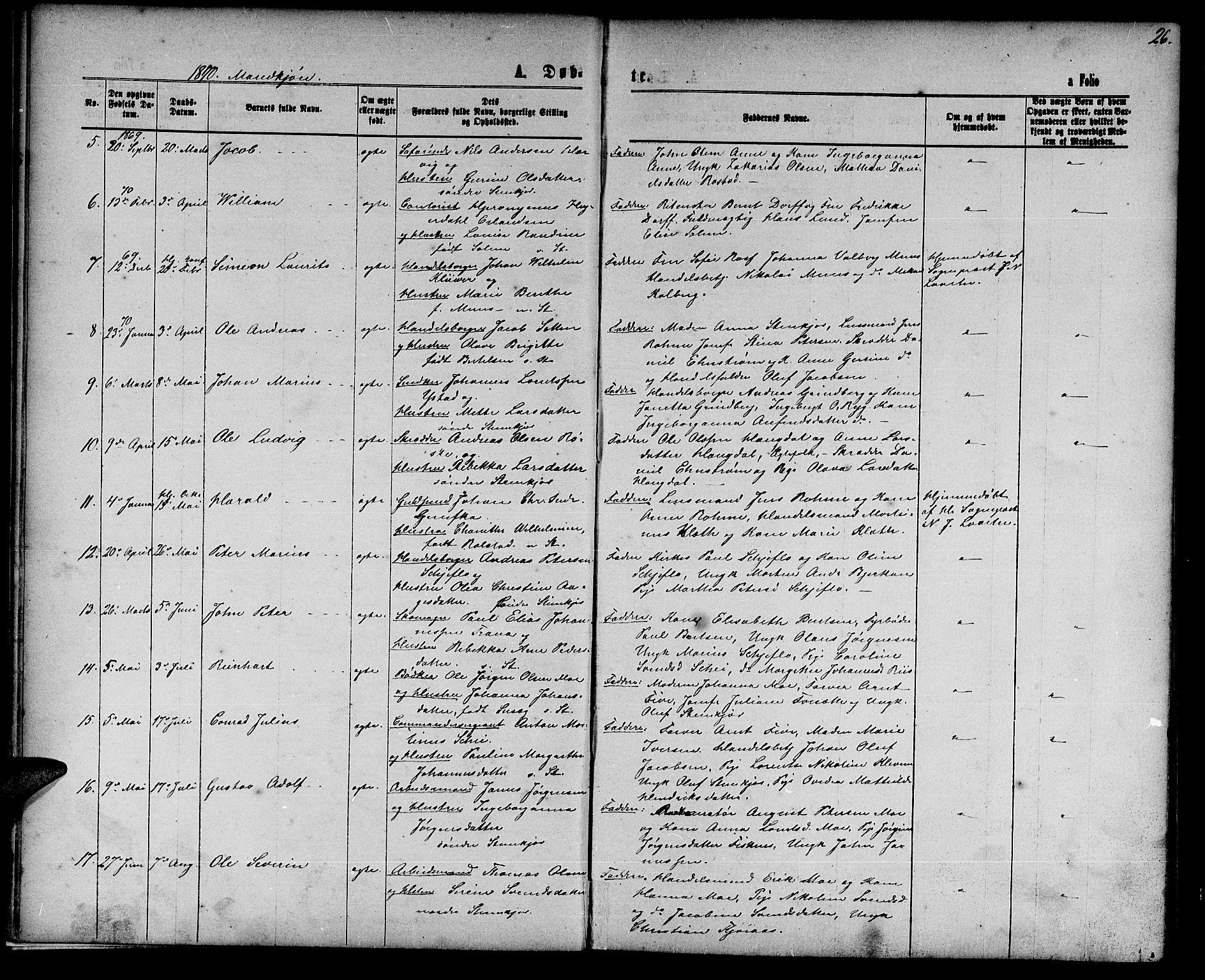 SAT, Ministerialprotokoller, klokkerbøker og fødselsregistre - Nord-Trøndelag, 739/L0373: Klokkerbok nr. 739C01, 1865-1882, s. 26