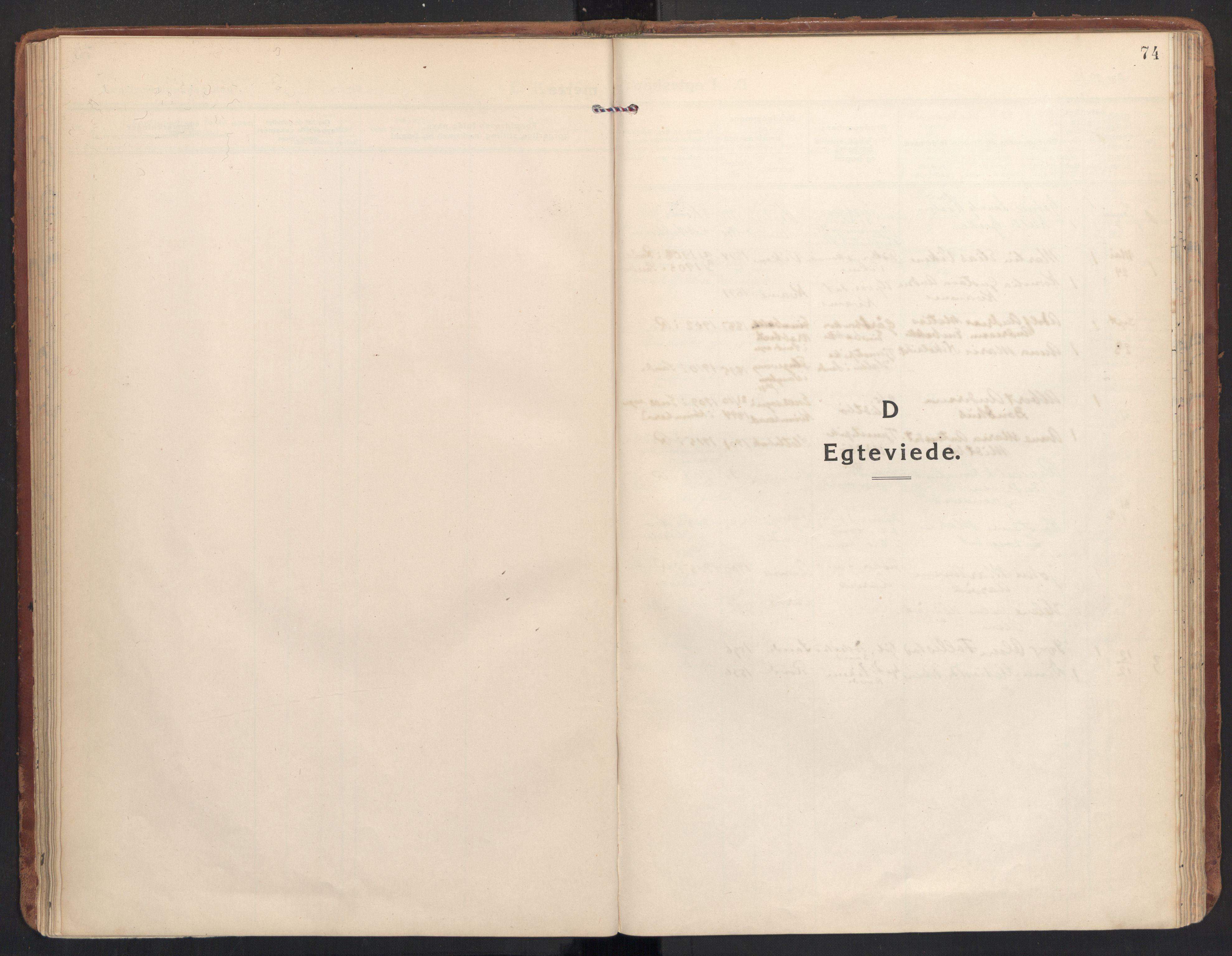 SAT, Ministerialprotokoller, klokkerbøker og fødselsregistre - Møre og Romsdal, 504/L0058: Ministerialbok nr. 504A05, 1920-1940, s. 74