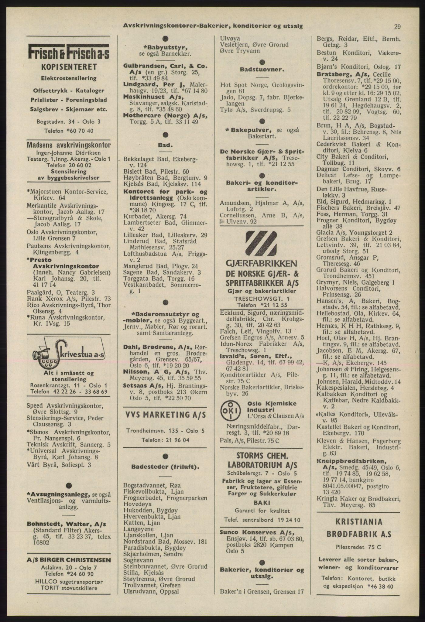 PUBL, Kristiania/Oslo adressebok, 1975-1976, s. 29
