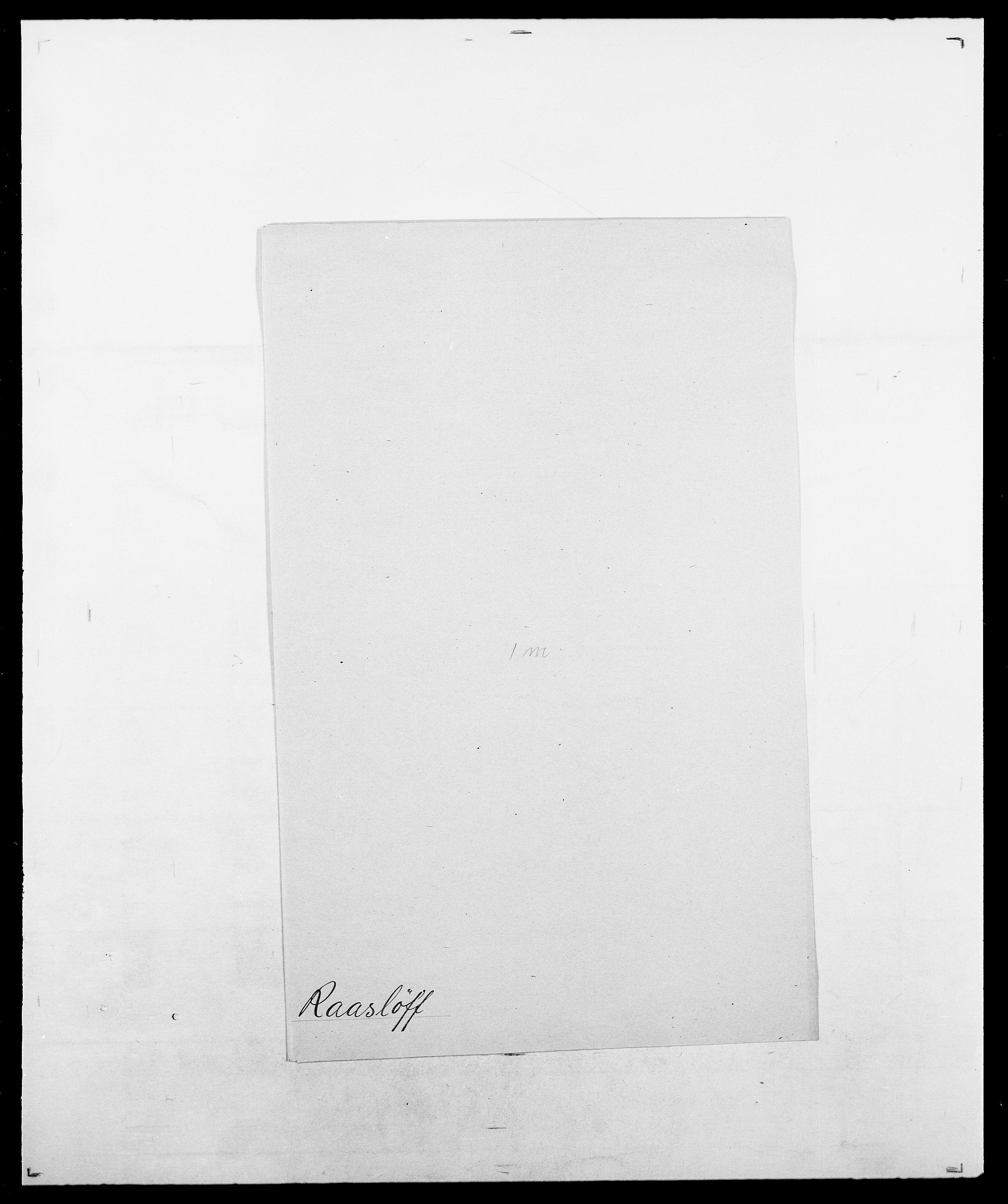 SAO, Delgobe, Charles Antoine - samling, D/Da/L0031: de Place - Raaum, s. 537