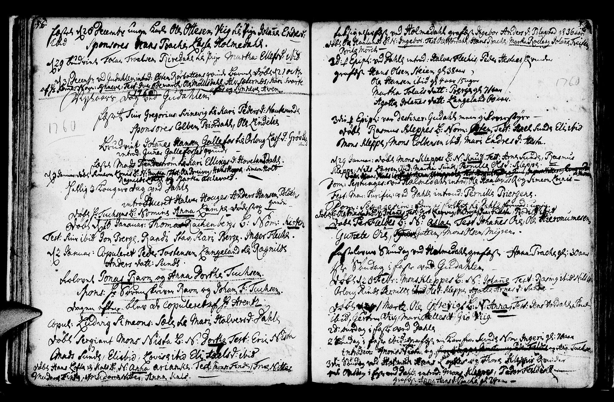 SAB, Fjaler Sokneprestembete, H/Haa: Ministerialbok nr. A 1, 1755-1778, s. 58-59