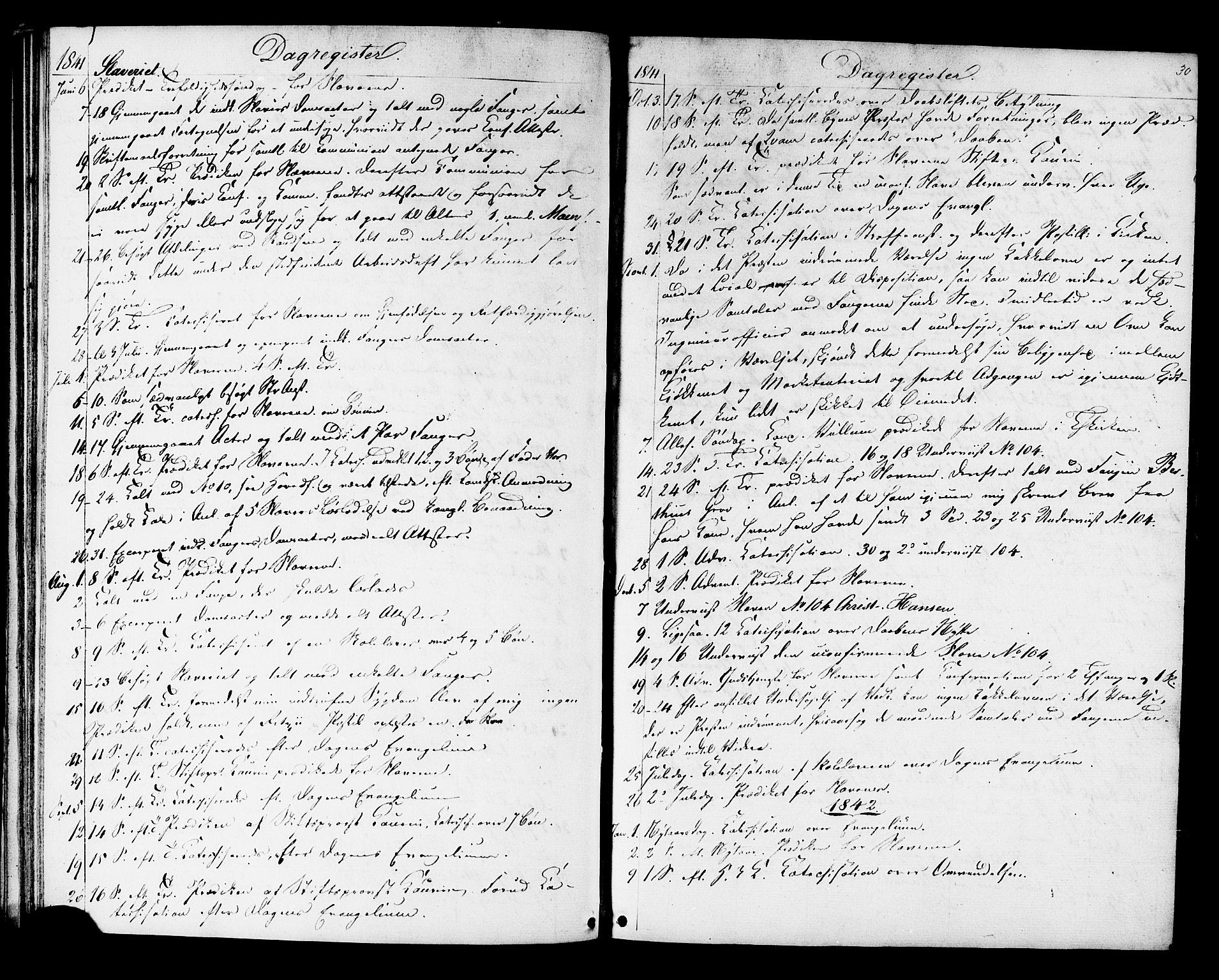 SAT, Ministerialprotokoller, klokkerbøker og fødselsregistre - Sør-Trøndelag, 624/L0481: Ministerialbok nr. 624A02, 1841-1869, s. 30