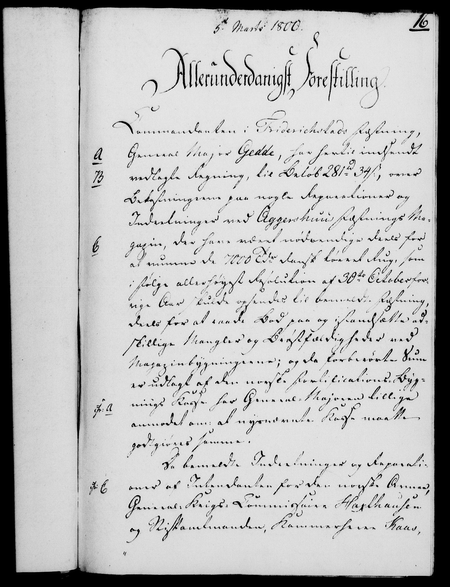 RA, Rentekammeret, Kammerkanselliet, G/Gf/Gfa/L0082: Norsk relasjons- og resolusjonsprotokoll (merket RK 52.82), 1800, s. 127