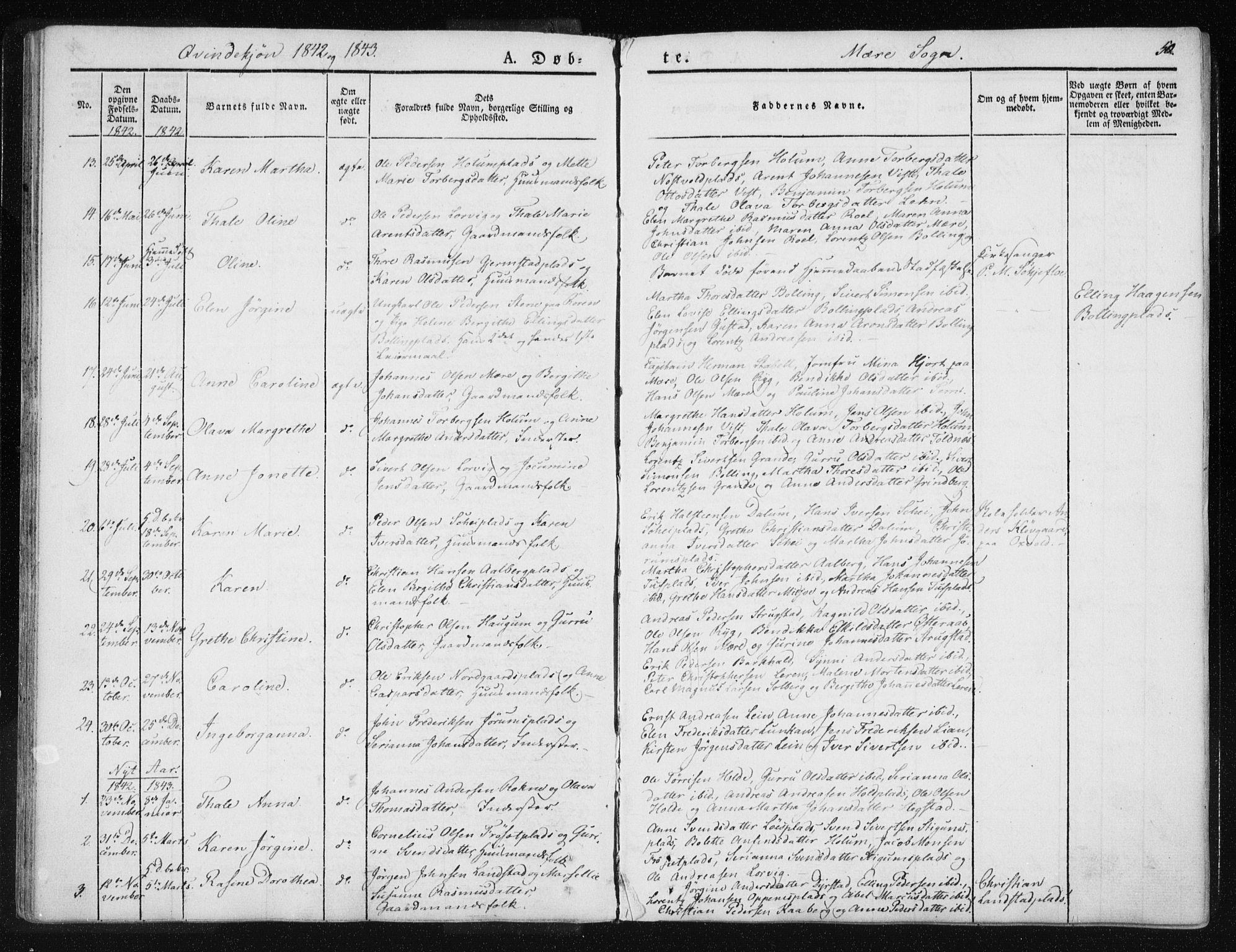 SAT, Ministerialprotokoller, klokkerbøker og fødselsregistre - Nord-Trøndelag, 735/L0339: Ministerialbok nr. 735A06 /1, 1836-1848, s. 50