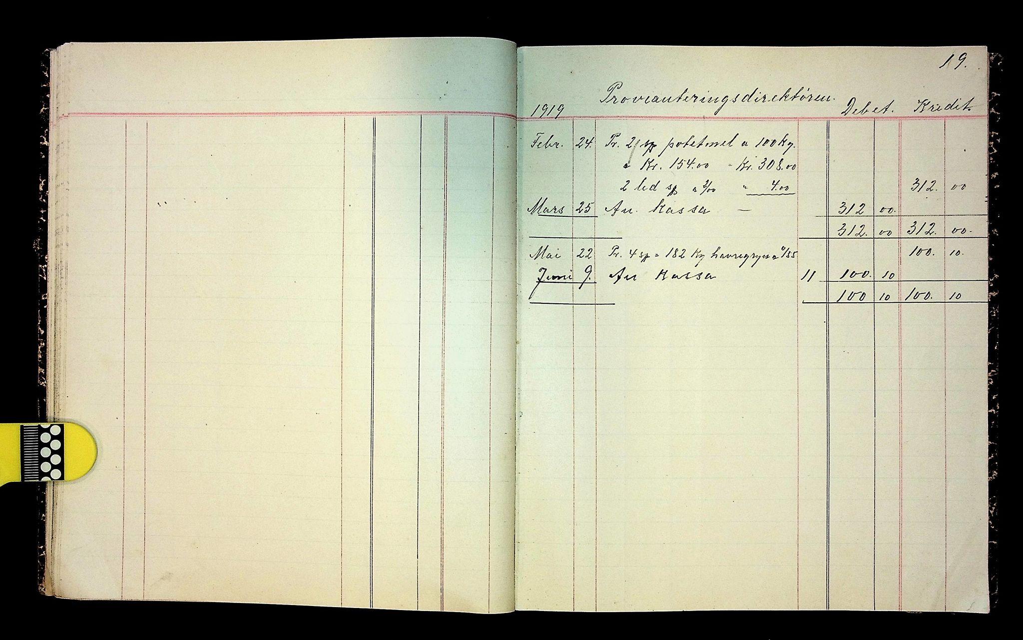 IKAH, Varaldsøy kommune. Mundheim provianteringsråd, R/Ra/L0002: Kontobok  for Mundheim provianteringsråd, 1919-1920, s. 20