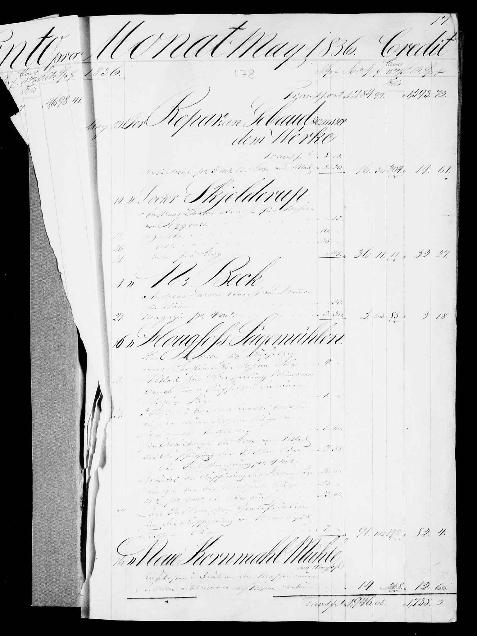 RA, Modums Blaafarveværk, G/Gd/Gda/L0175, 1836-1838, s. 3