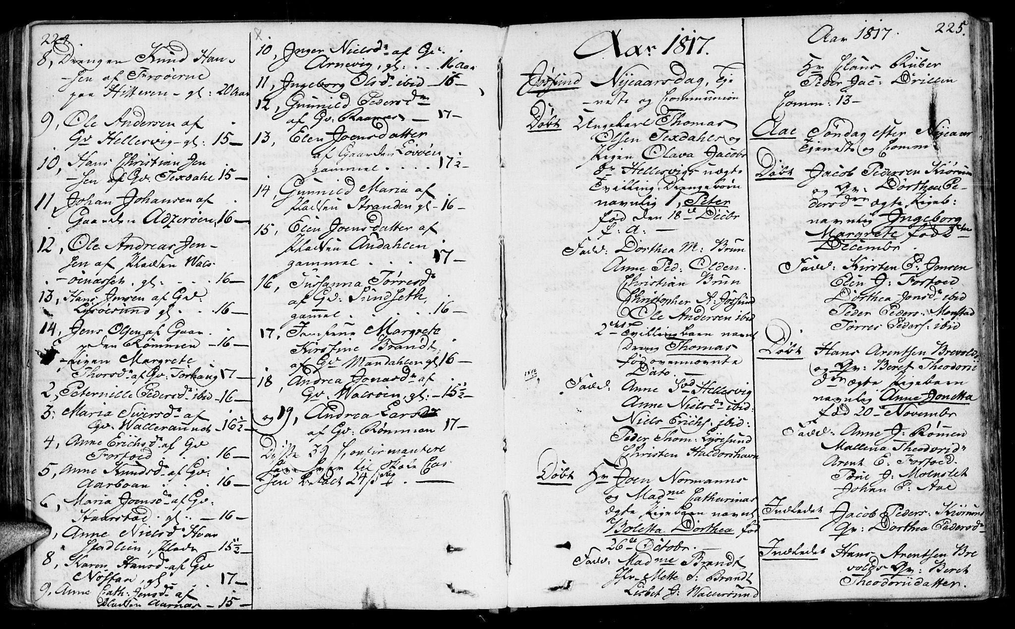 SAT, Ministerialprotokoller, klokkerbøker og fødselsregistre - Sør-Trøndelag, 655/L0674: Ministerialbok nr. 655A03, 1802-1826, s. 224-225