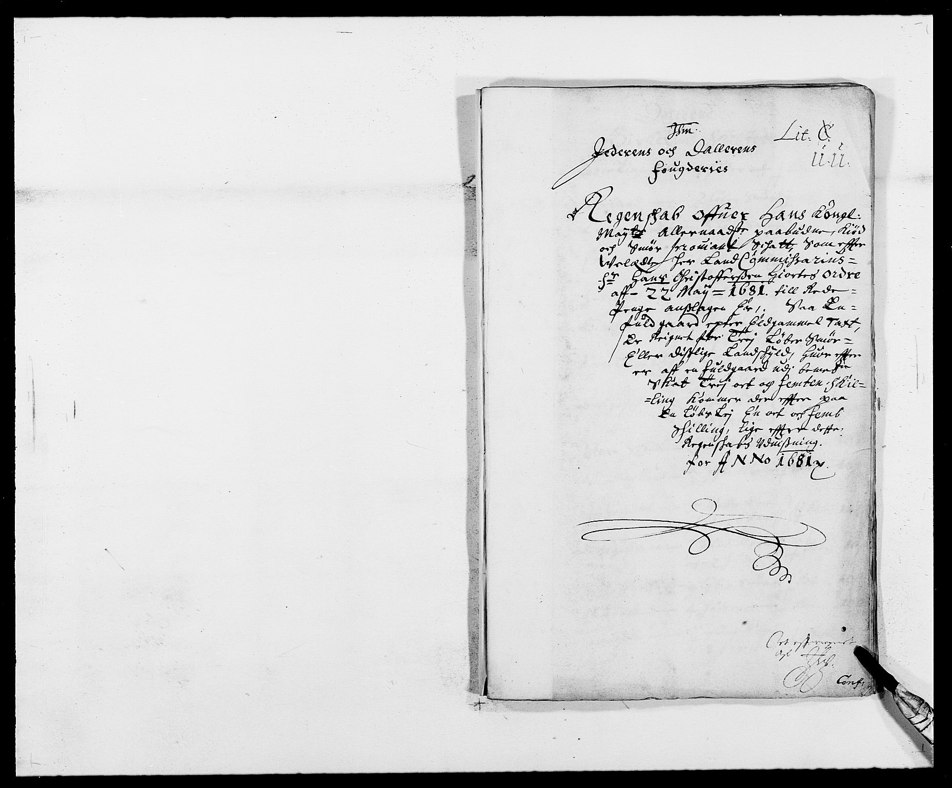 RA, Rentekammeret inntil 1814, Reviderte regnskaper, Fogderegnskap, R46/L2722: Fogderegnskap Jæren og Dalane, 1681, s. 77