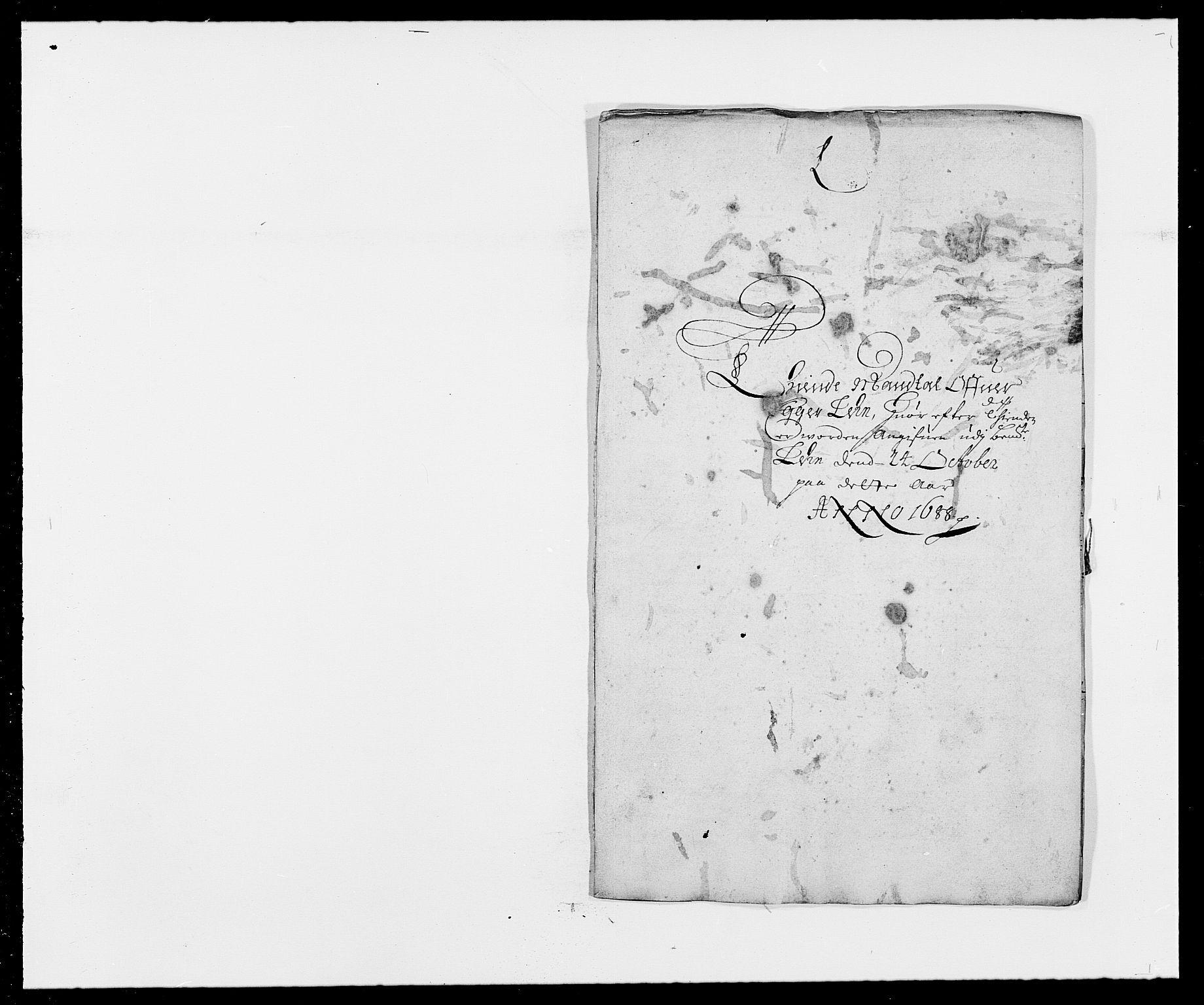 RA, Rentekammeret inntil 1814, Reviderte regnskaper, Fogderegnskap, R28/L1688: Fogderegnskap Eiker og Lier, 1687-1689, s. 148