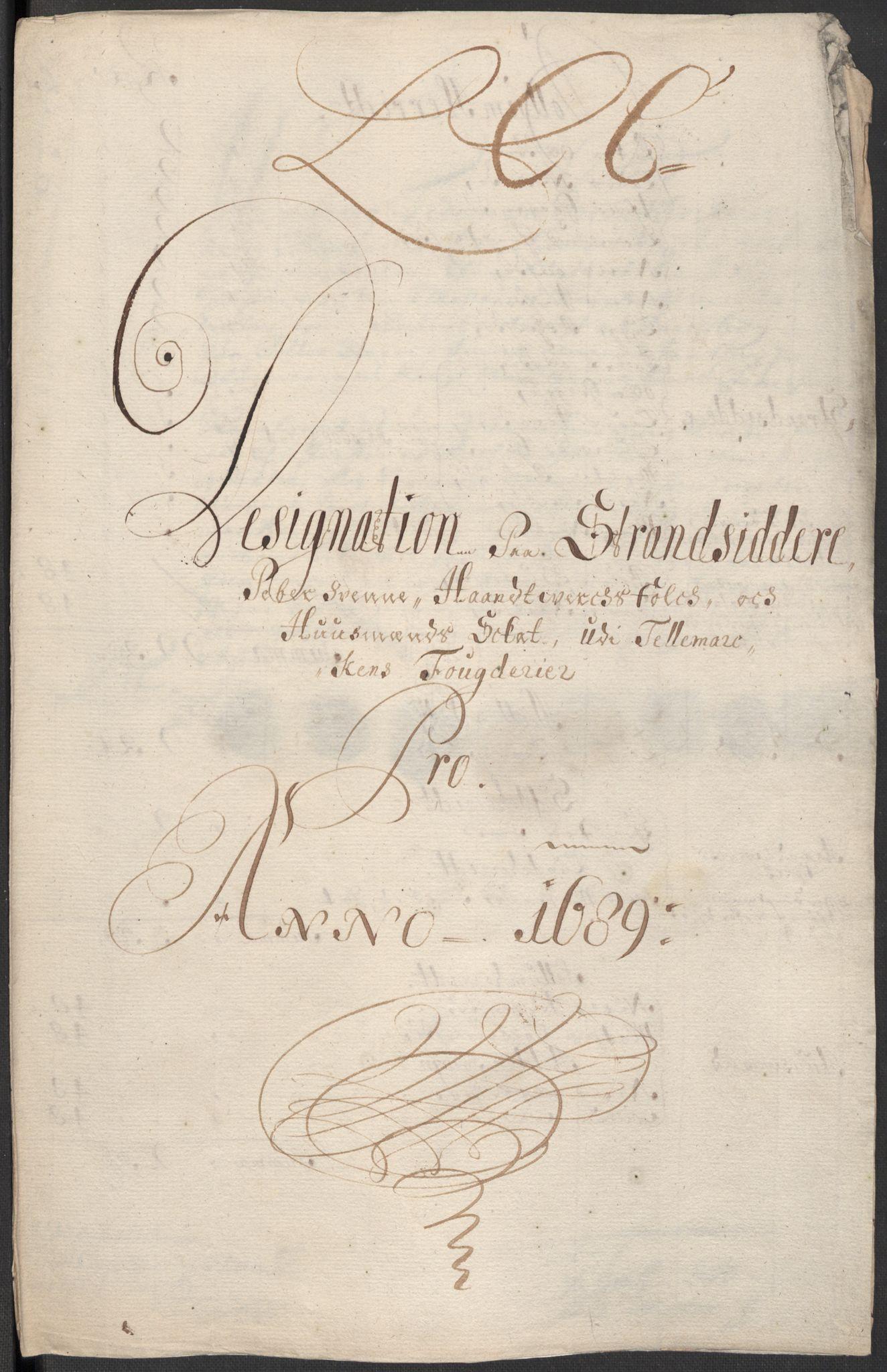 RA, Rentekammeret inntil 1814, Reviderte regnskaper, Fogderegnskap, R35/L2088: Fogderegnskap Øvre og Nedre Telemark, 1687-1689, s. 27