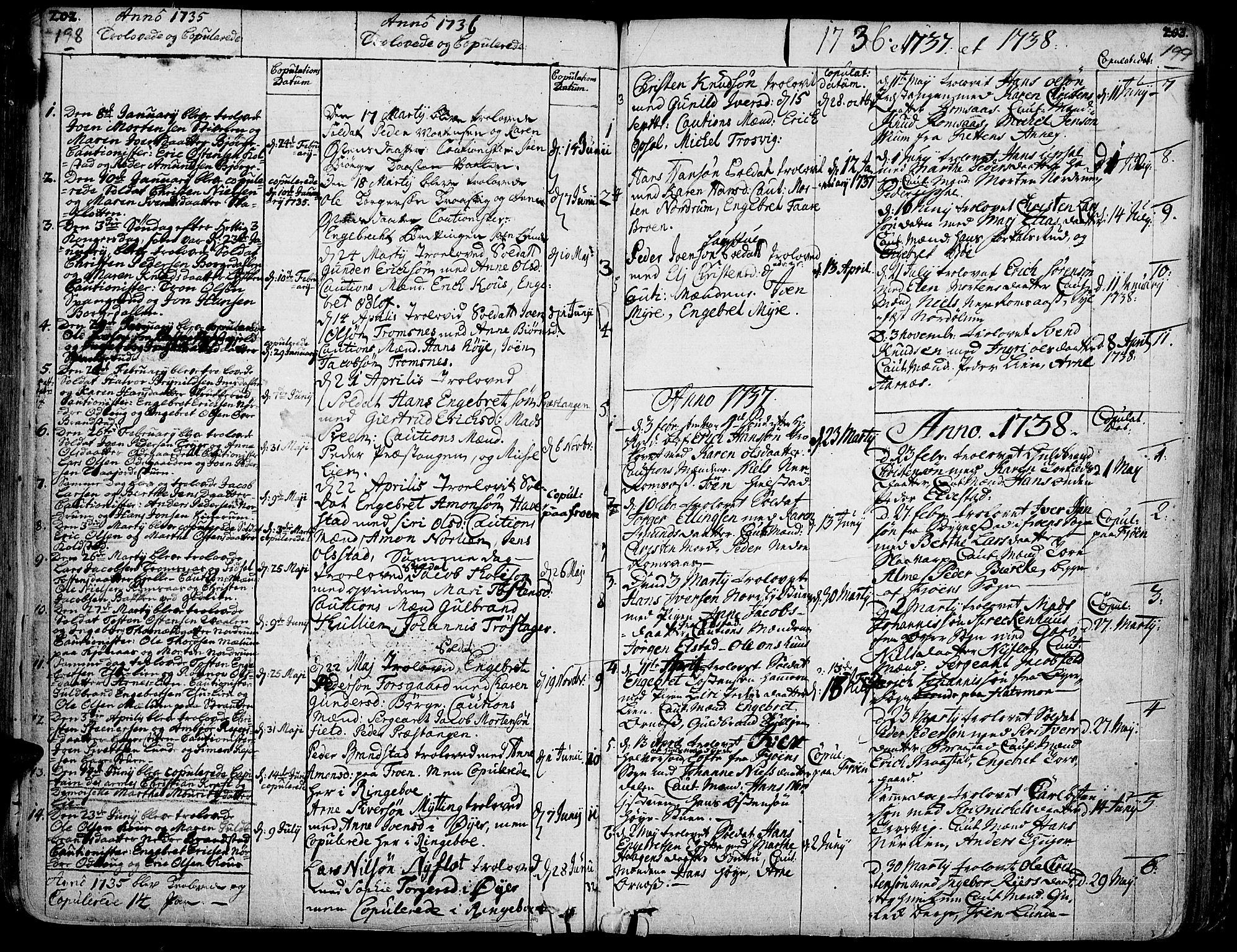 SAH, Ringebu prestekontor, Ministerialbok nr. 2, 1734-1780, s. 198-199