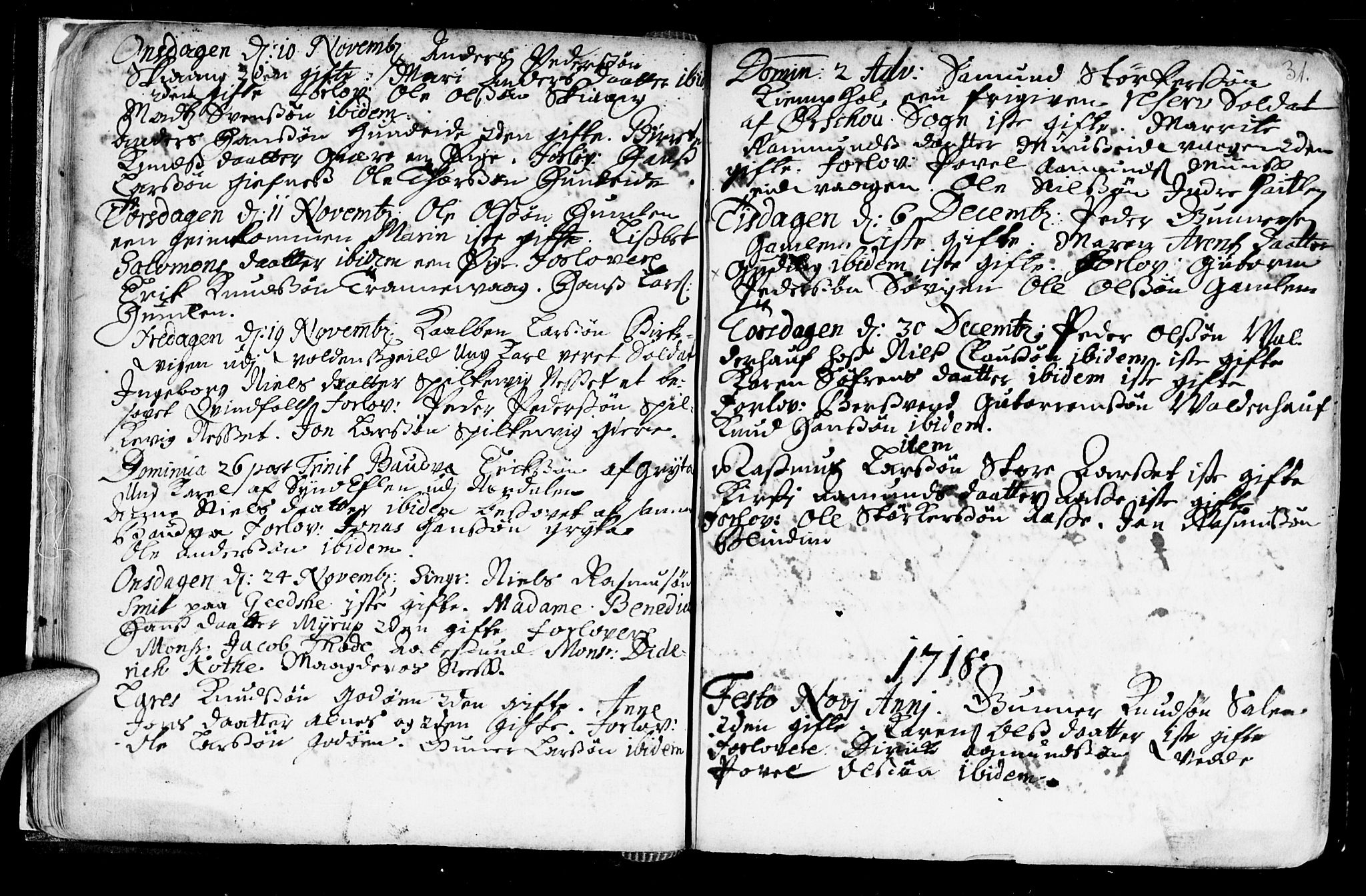 SAT, Ministerialprotokoller, klokkerbøker og fødselsregistre - Møre og Romsdal, 528/L0390: Ministerialbok nr. 528A01, 1698-1739, s. 30-31