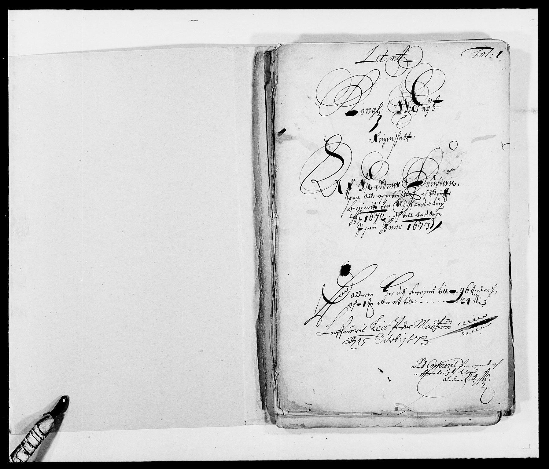 RA, Rentekammeret inntil 1814, Reviderte regnskaper, Fogderegnskap, R39/L2300: Fogderegnskap Nedenes, 1672-1674, s. 2