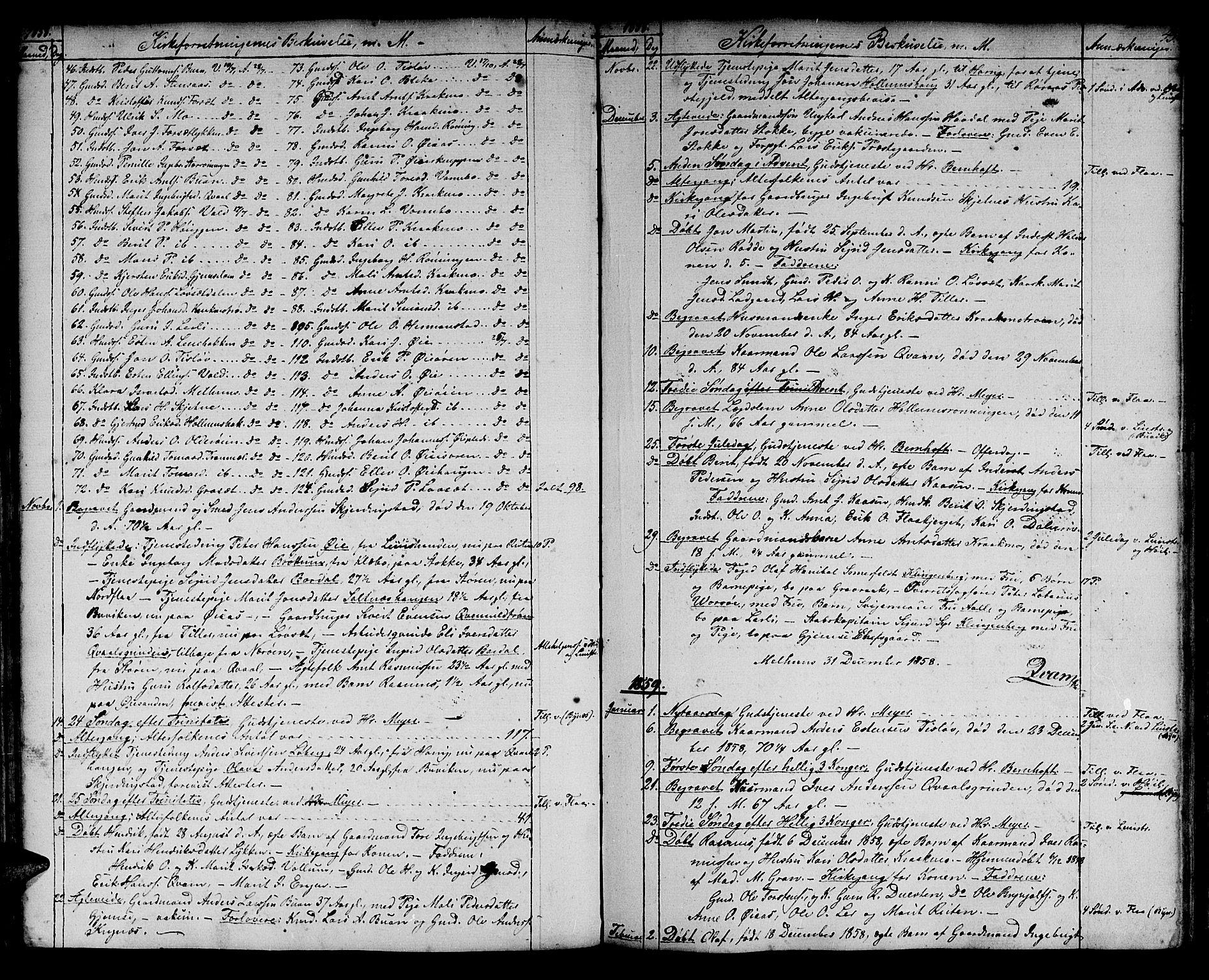 SAT, Ministerialprotokoller, klokkerbøker og fødselsregistre - Sør-Trøndelag, 691/L1093: Klokkerbok nr. 691C04, 1852-1879, s. 45