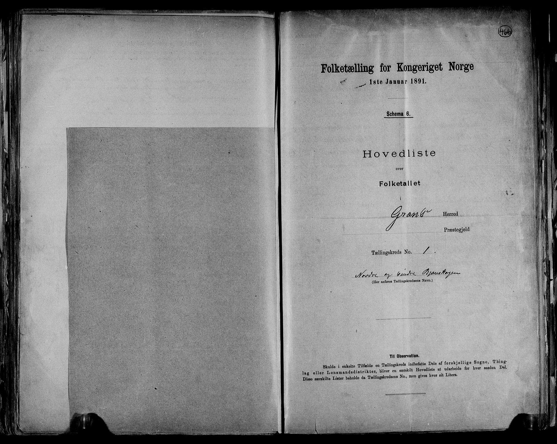 RA, Folketelling 1891 for 0534 Gran herred, 1891, s. 5