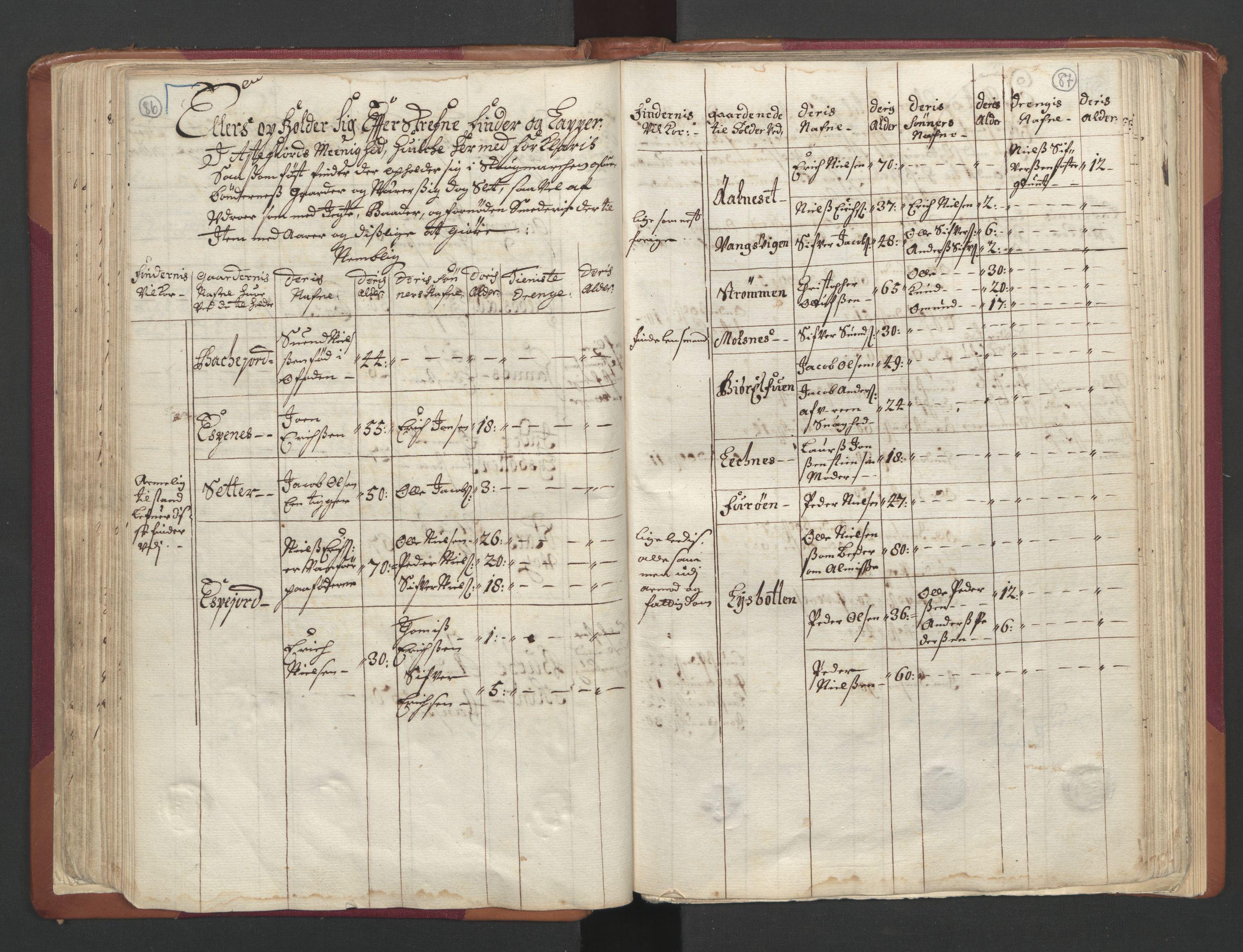 RA, Manntallet 1701, nr. 19: Senja og Tromsø fogderi, 1701, s. 86-87