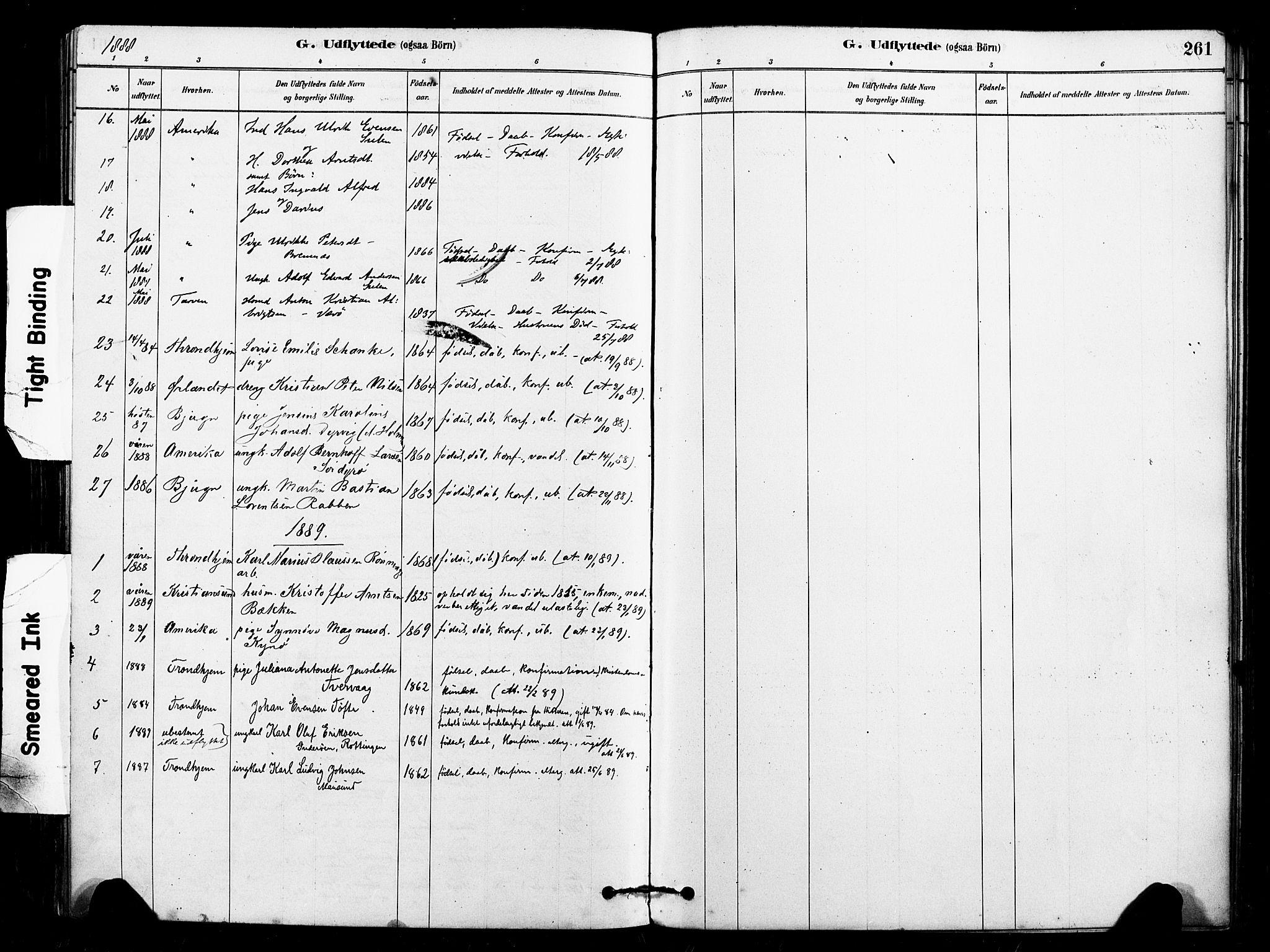 SAT, Ministerialprotokoller, klokkerbøker og fødselsregistre - Sør-Trøndelag, 640/L0578: Ministerialbok nr. 640A03, 1879-1889, s. 261