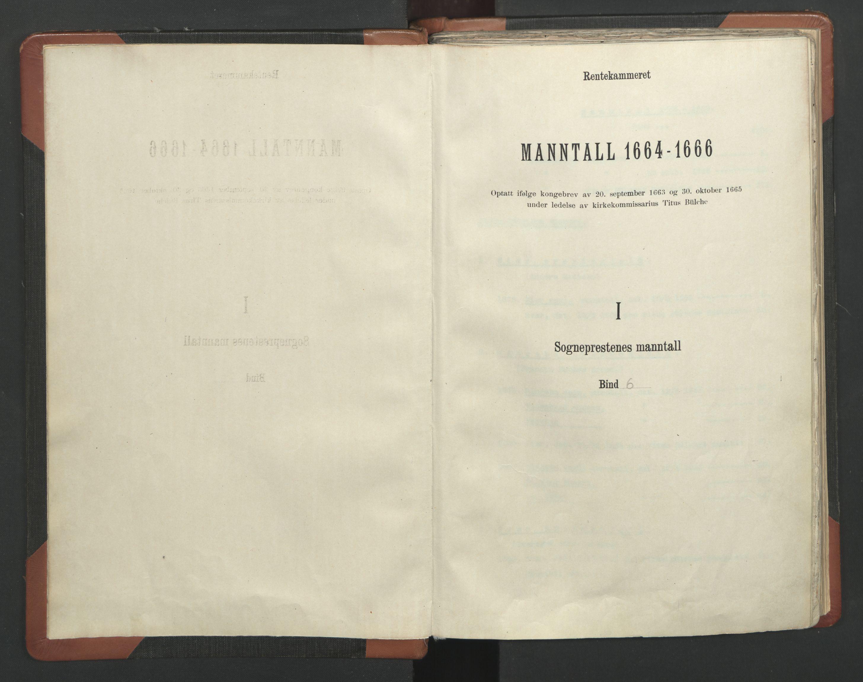 RA, Sogneprestenes manntall 1664-1666, nr. 6: Gudbrandsdal prosti, 1664-1666, s. upaginert