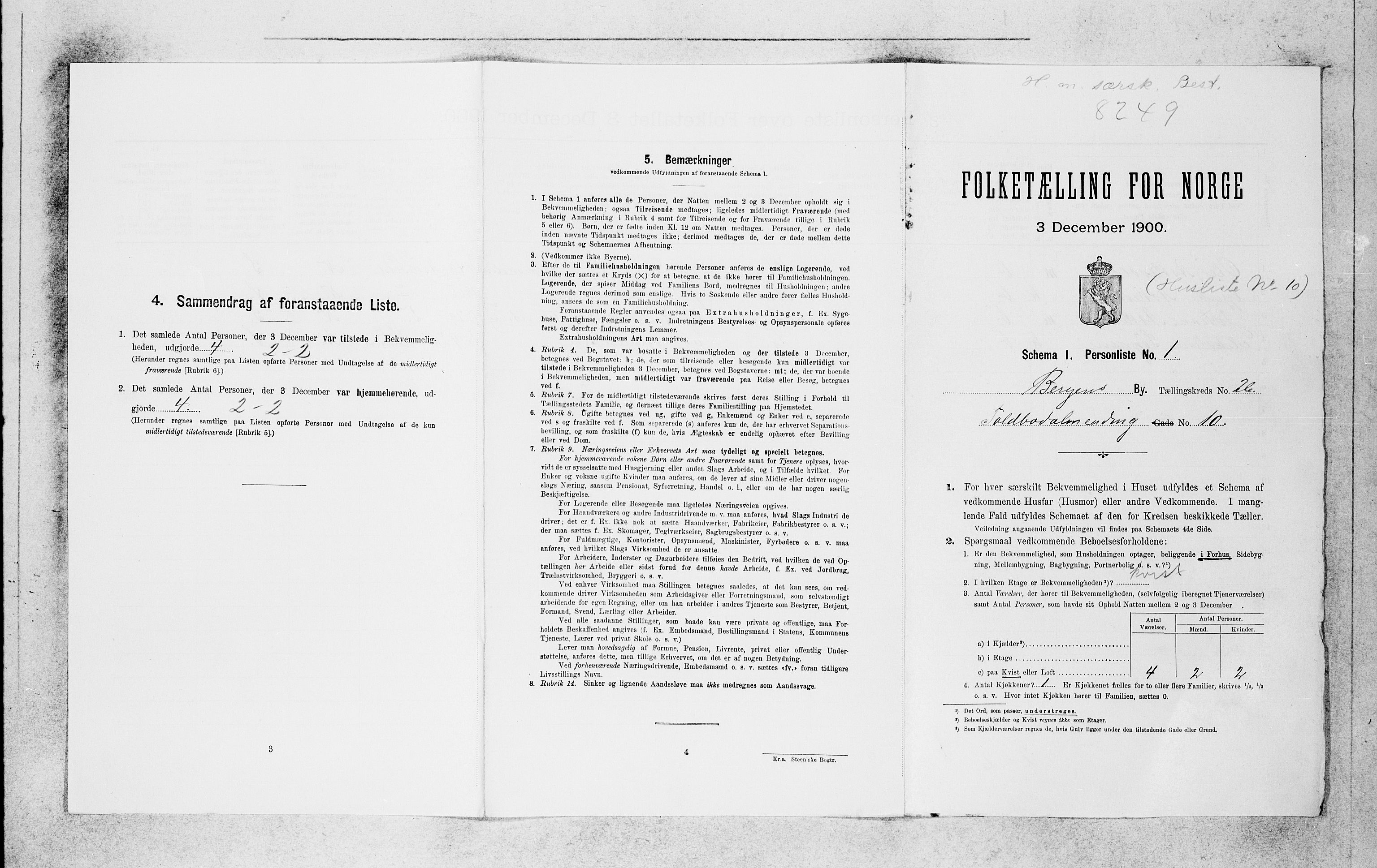 SAB, Folketelling 1900 for 1301 Bergen kjøpstad, 1900, s. 5420