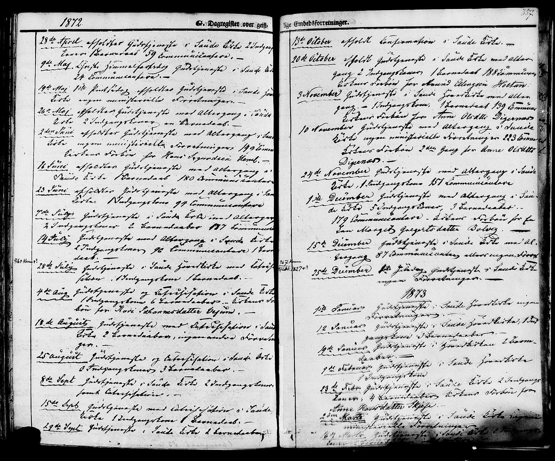 SAKO, Sauherad kirkebøker, F/Fa/L0007: Ministerialbok nr. I 7, 1851-1873, s. 357
