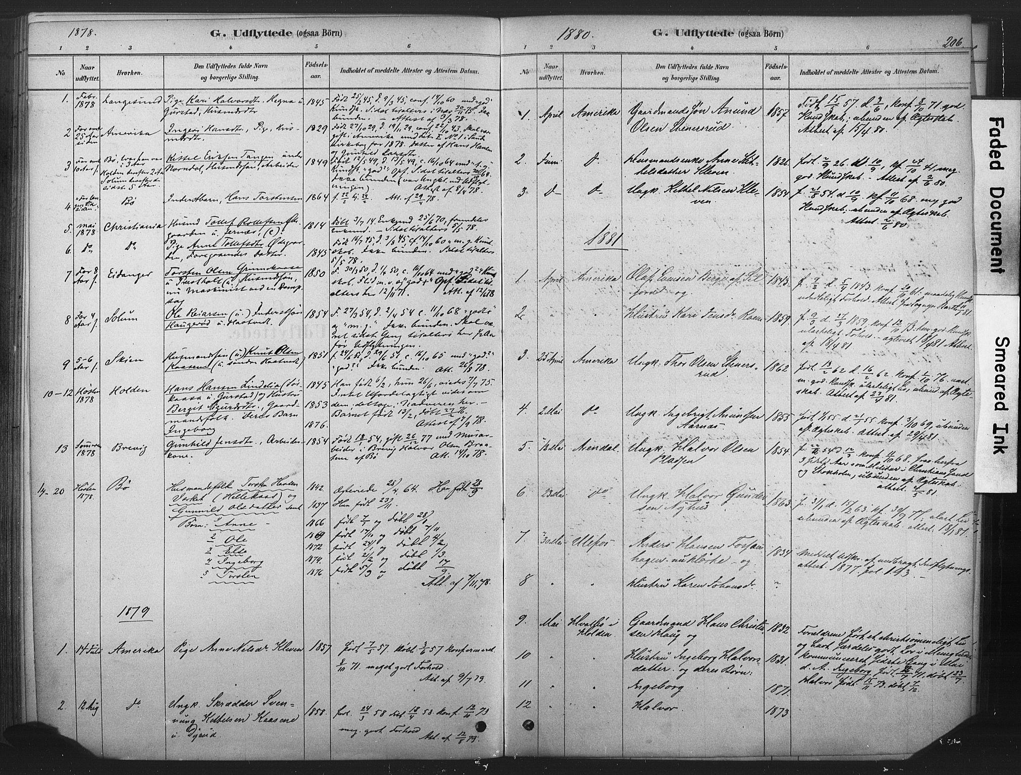 SAKO, Sauherad kirkebøker, F/Fb/L0002: Ministerialbok nr. II 2, 1878-1901, s. 206