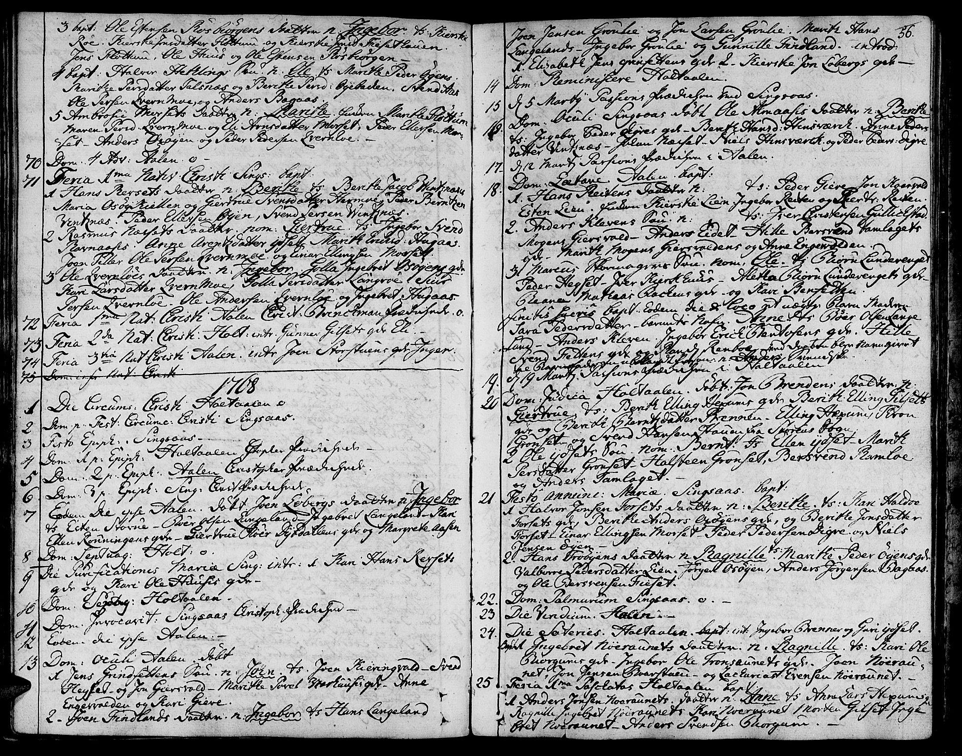 SAT, Ministerialprotokoller, klokkerbøker og fødselsregistre - Sør-Trøndelag, 685/L0952: Ministerialbok nr. 685A01, 1745-1804, s. 56