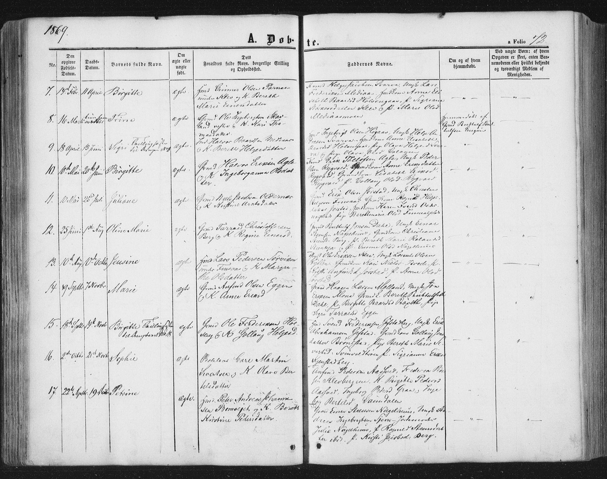 SAT, Ministerialprotokoller, klokkerbøker og fødselsregistre - Nord-Trøndelag, 749/L0472: Ministerialbok nr. 749A06, 1857-1873, s. 72