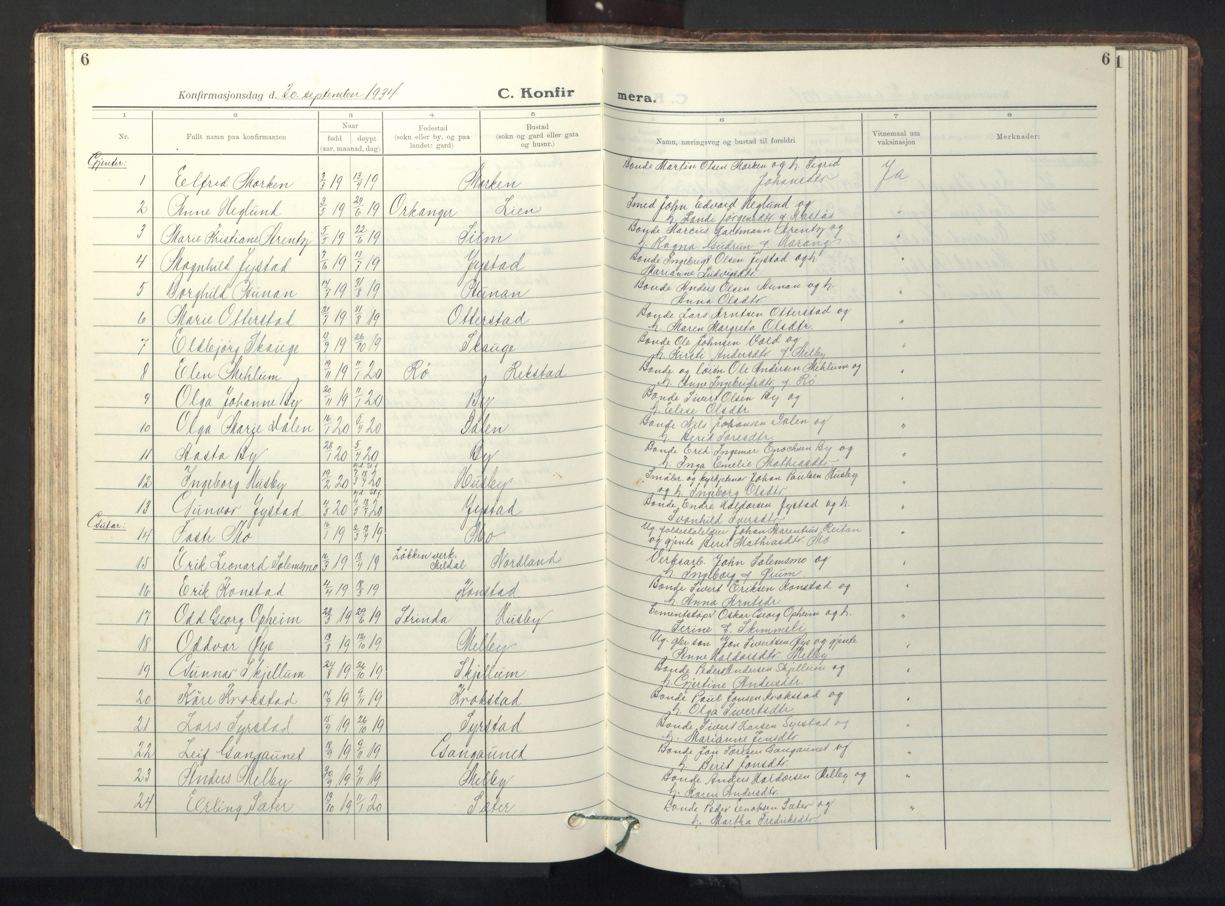 SAT, Ministerialprotokoller, klokkerbøker og fødselsregistre - Sør-Trøndelag, 667/L0799: Klokkerbok nr. 667C04, 1929-1950, s. 6