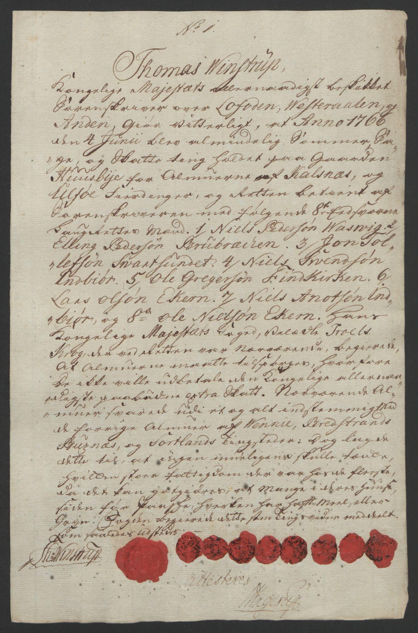 RA, Rentekammeret inntil 1814, Reviderte regnskaper, Fogderegnskap, R67/L4747: Ekstraskatten Vesterålen, Andenes og Lofoten, 1762-1766, s. 466