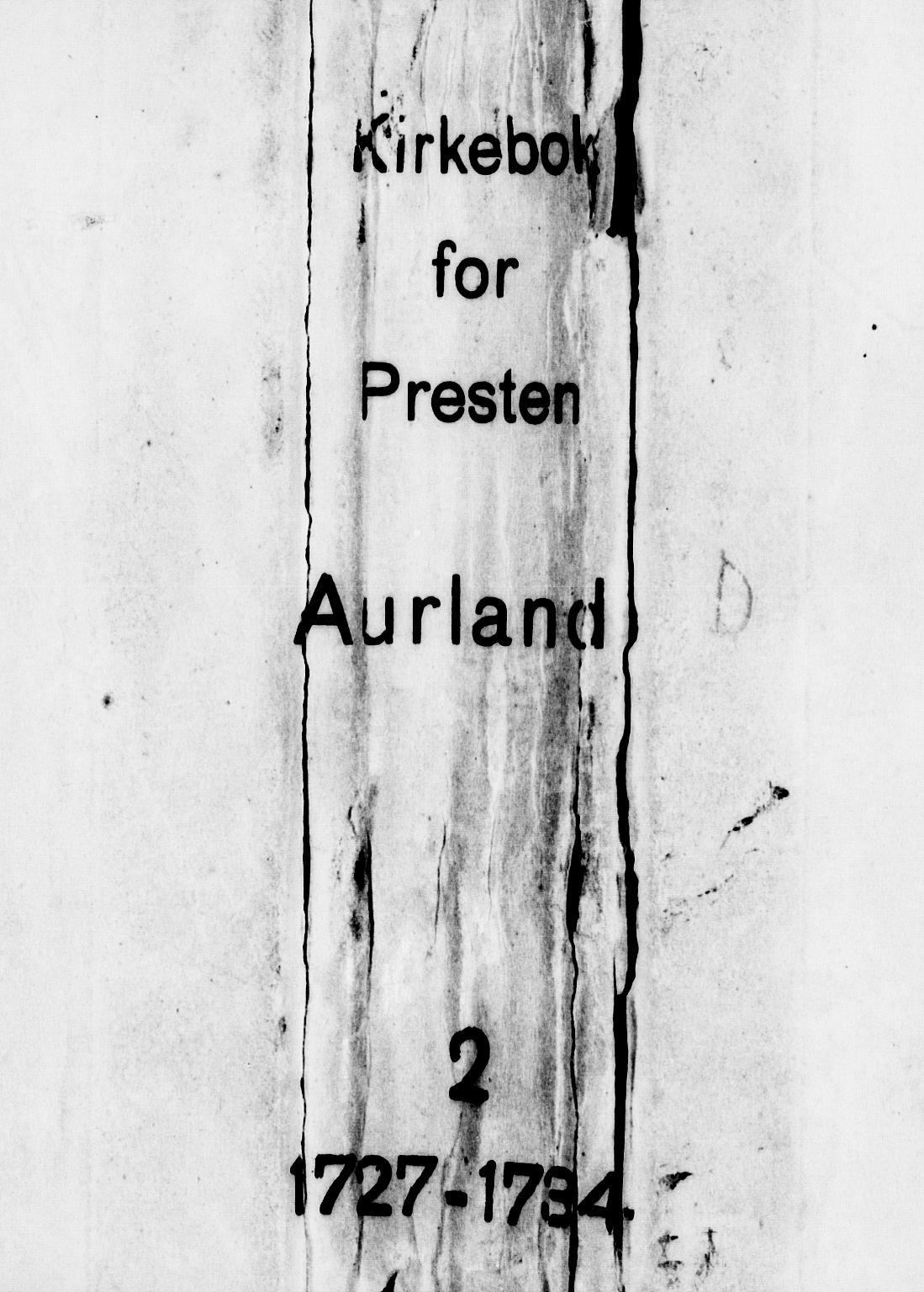 SAB, Aurland Sokneprestembete*, Ministerialbok nr. A 2, 1726-1734