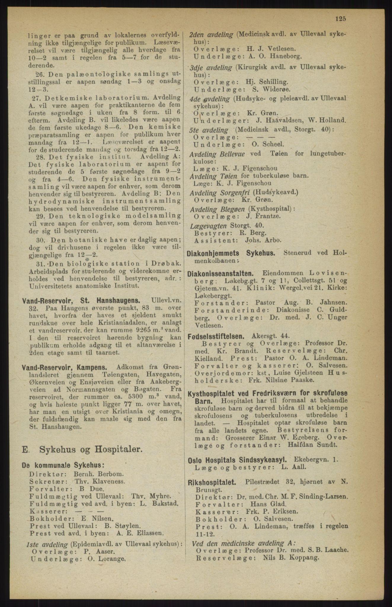 RA, Kristiania adressebok (publikasjon)*, 1914, s. 125