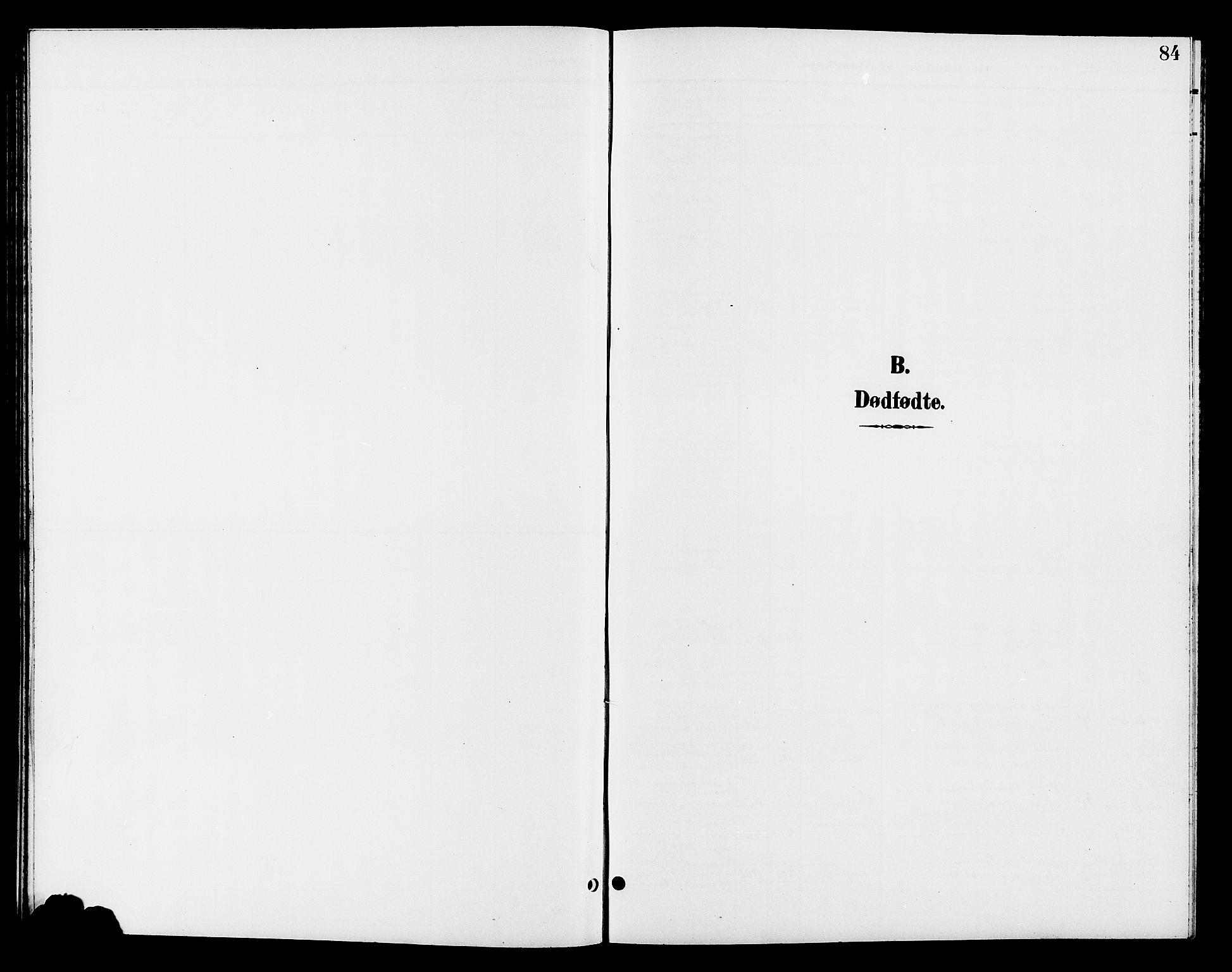 SAH, Jevnaker prestekontor, Klokkerbok nr. 3, 1896-1909, s. 84